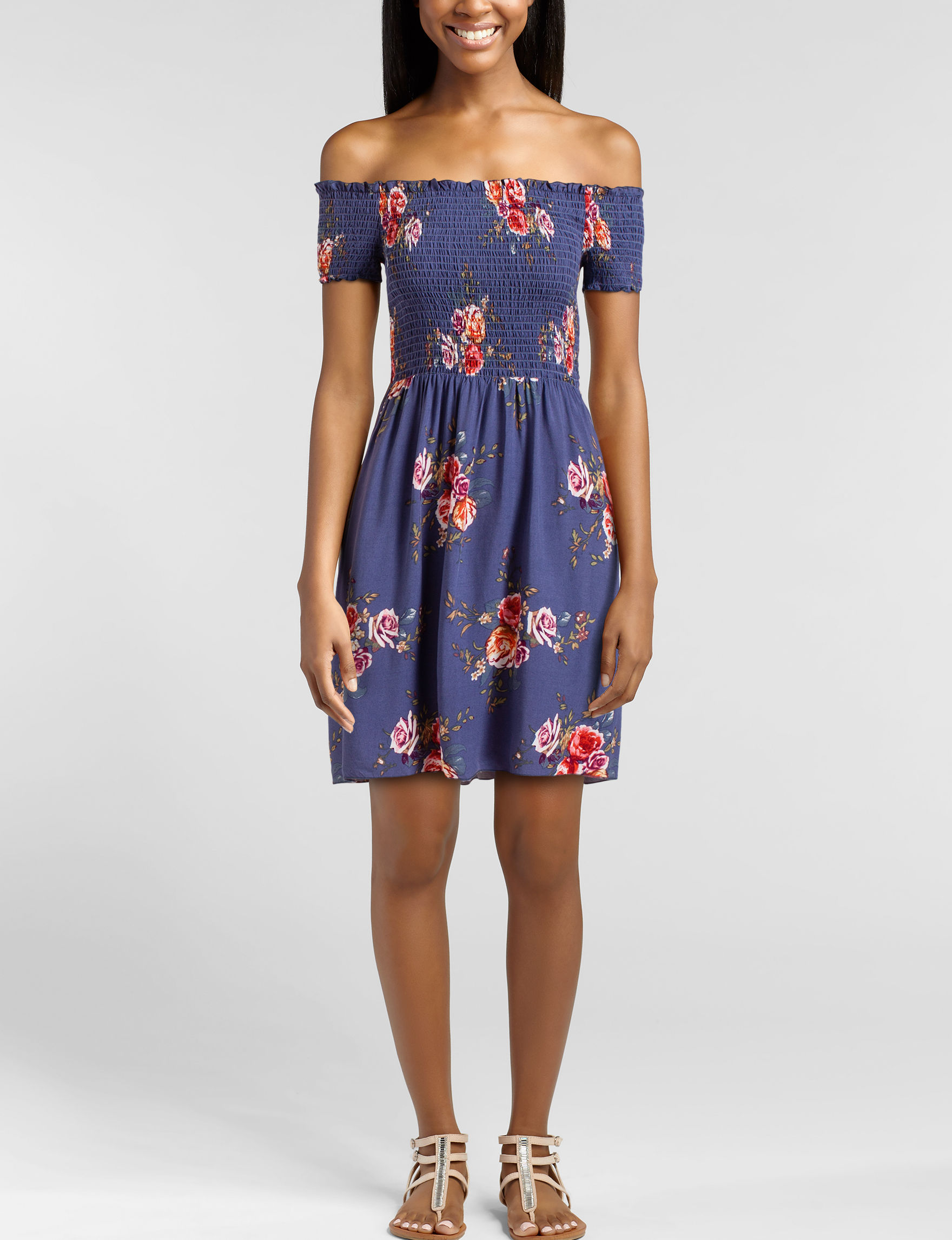 Wishful Park Blue Floral Everyday & Casual