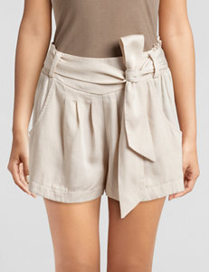 C + J Collections Beige Soft Shorts