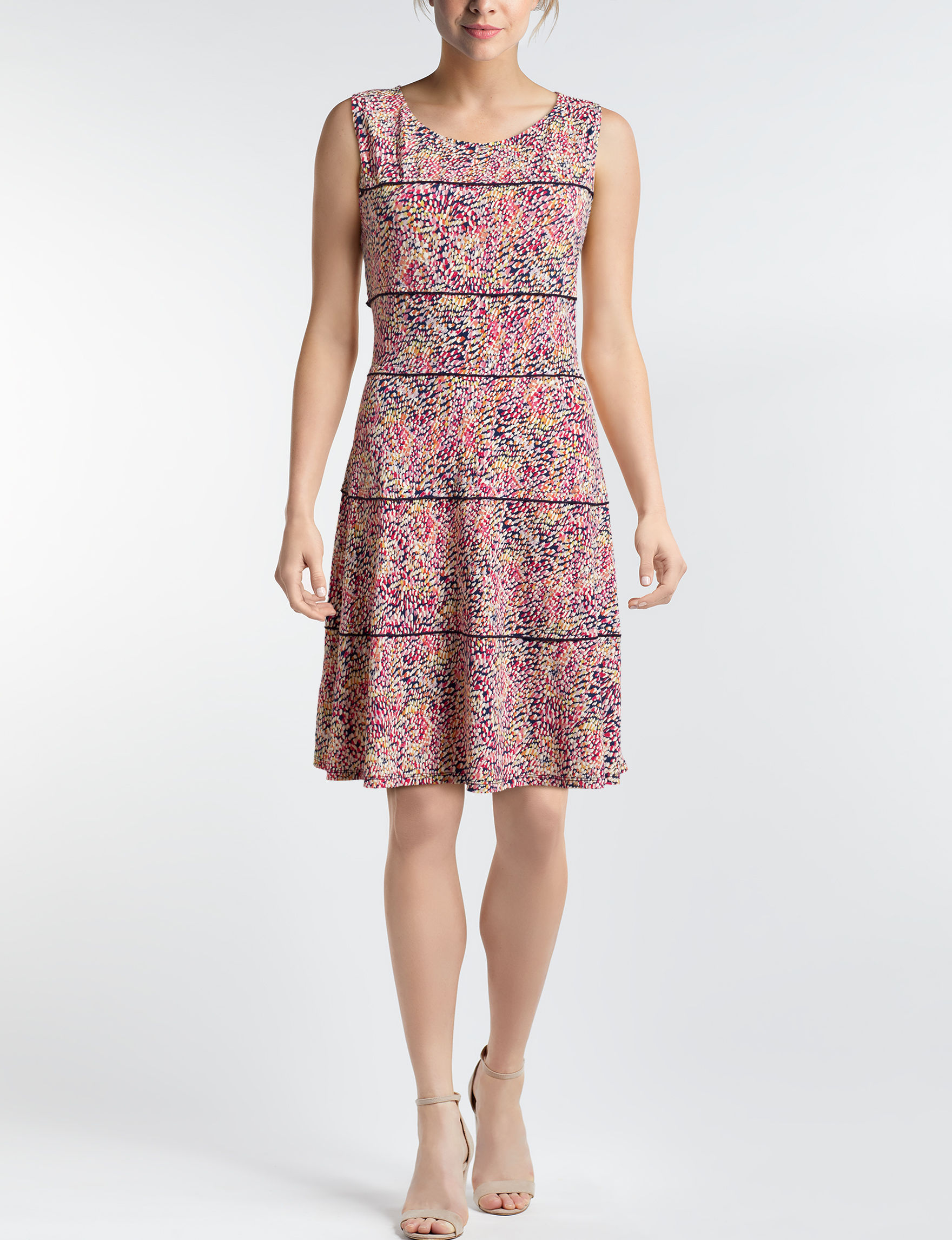 Perceptions Pink Everyday & Casual A-line Dresses Fit & Flare Dresses