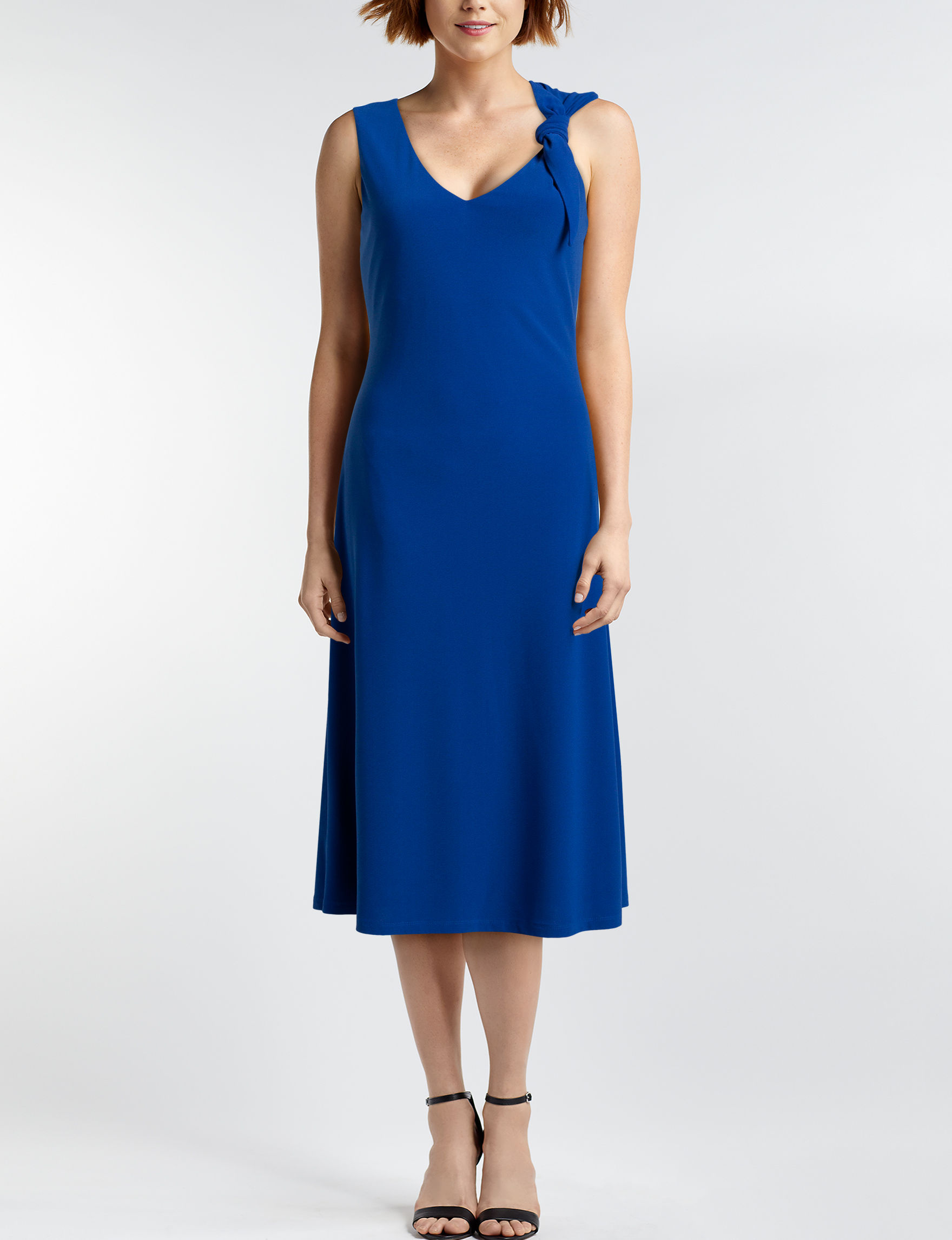 London Times Blue Everyday & Casual A-line Dresses Fit & Flare Dresses