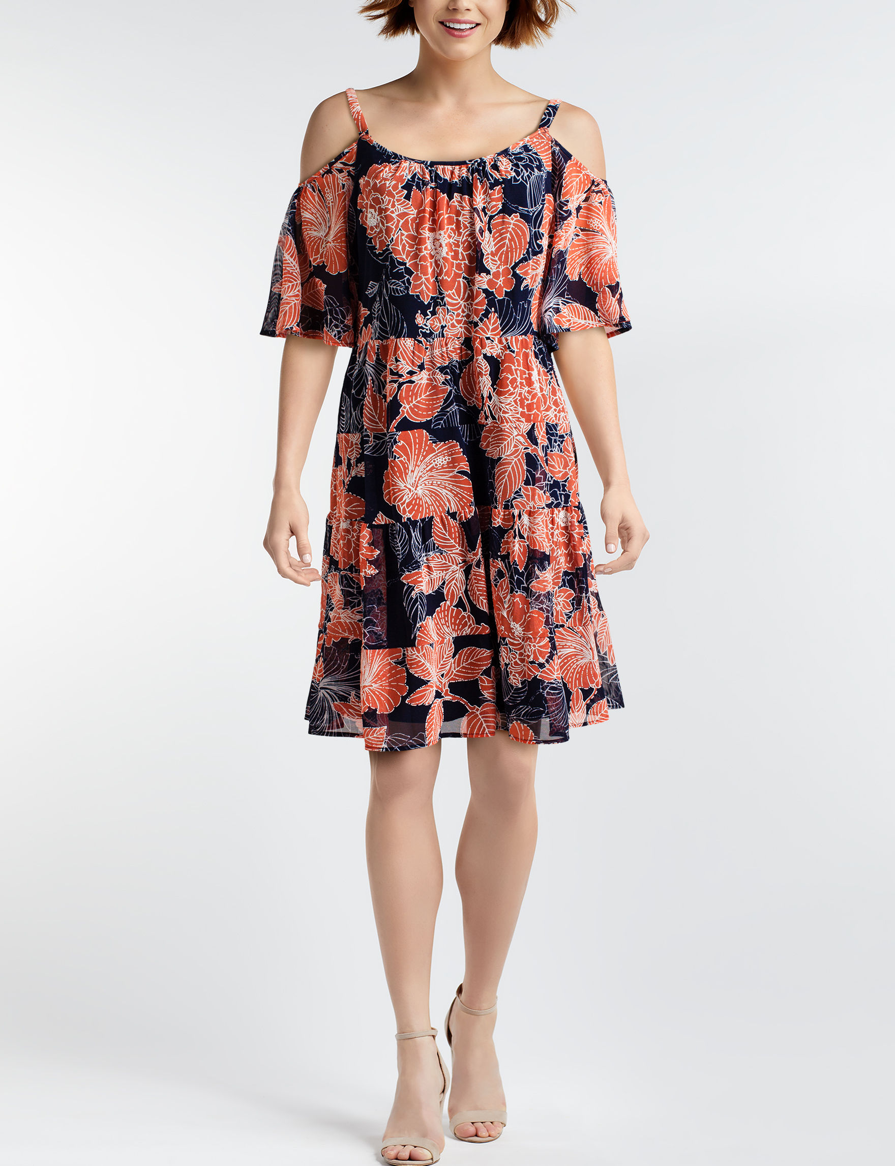 Robbie Bee Navy Everyday & Casual Fit & Flare Dresses