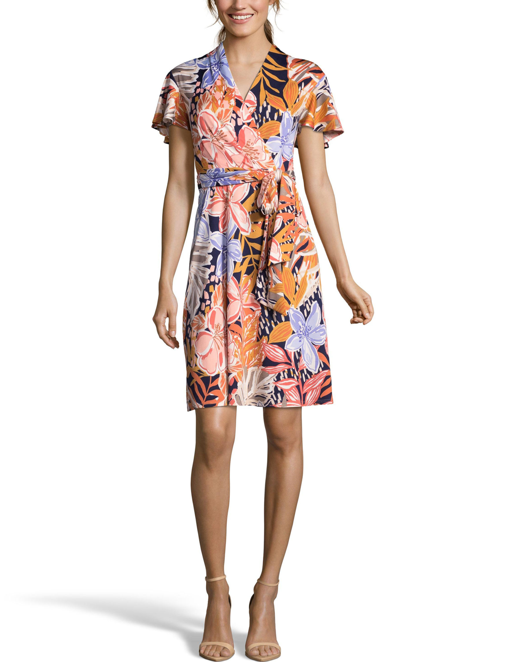 Nicole Miller Navy Multi Everyday & Casual A-line Dresses