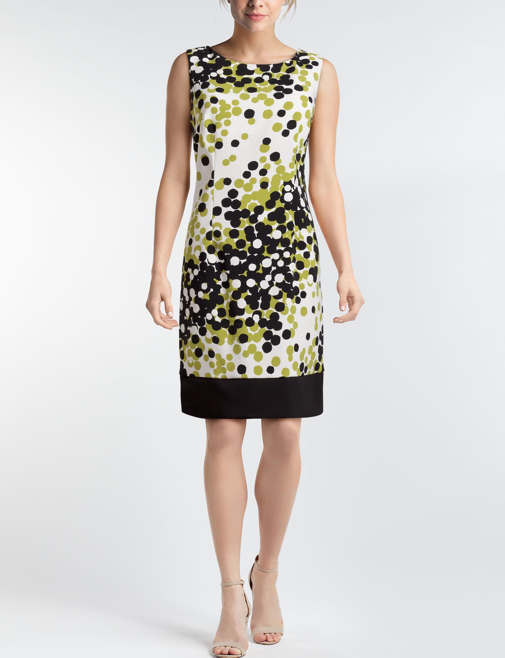 Ronni Nicole White Multi Everyday & Casual Sheath Dresses