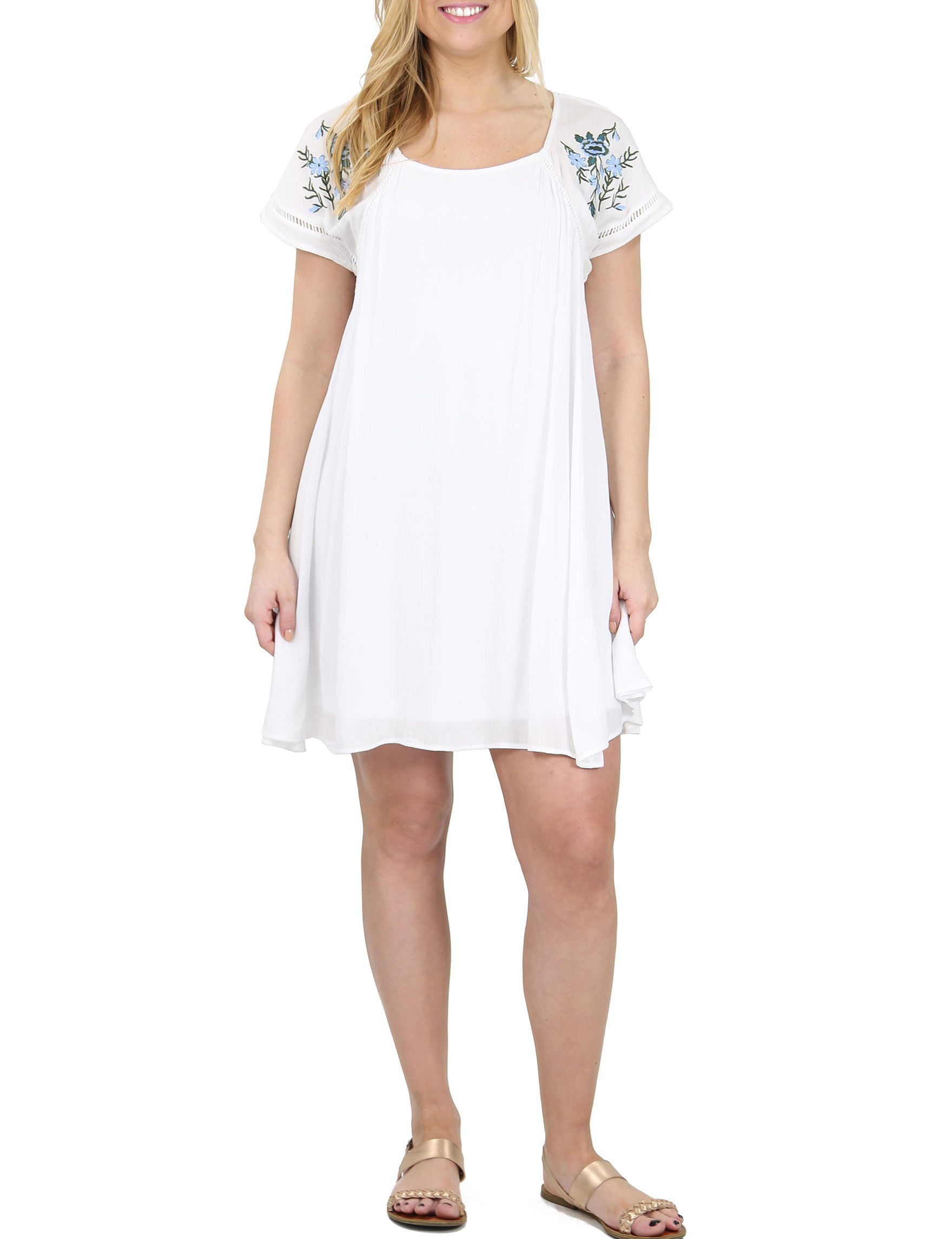 Hailey Lyn White Everyday & Casual A-line Dresses Fit & Flare Dresses