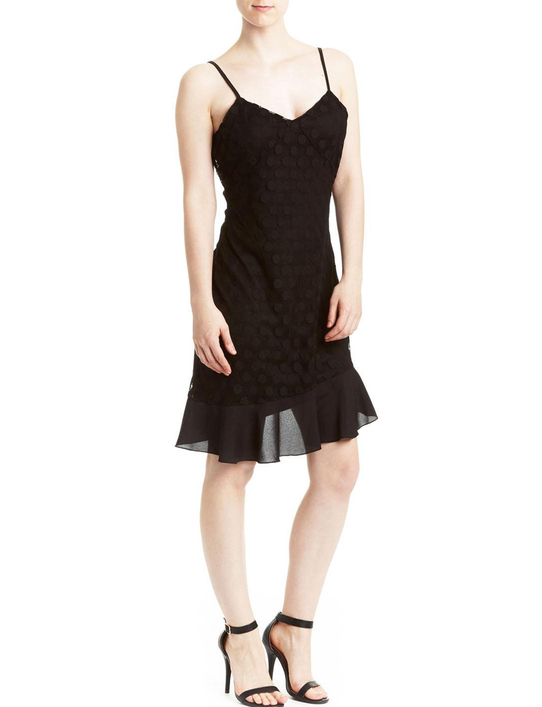 Leola Couture Black Cocktail & Party Shift Dresses