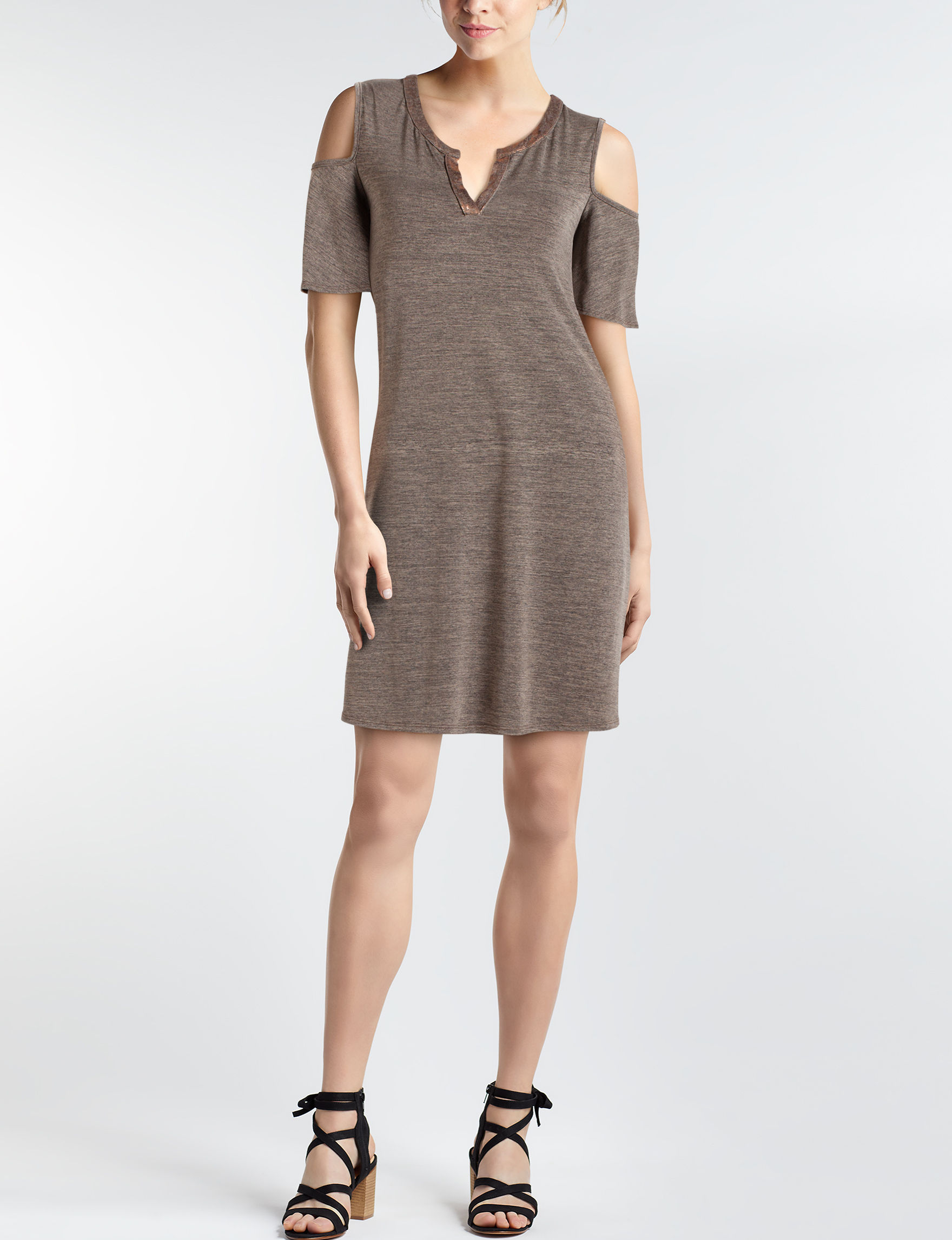 A. Byer Grey Everyday & Casual Shift Dresses