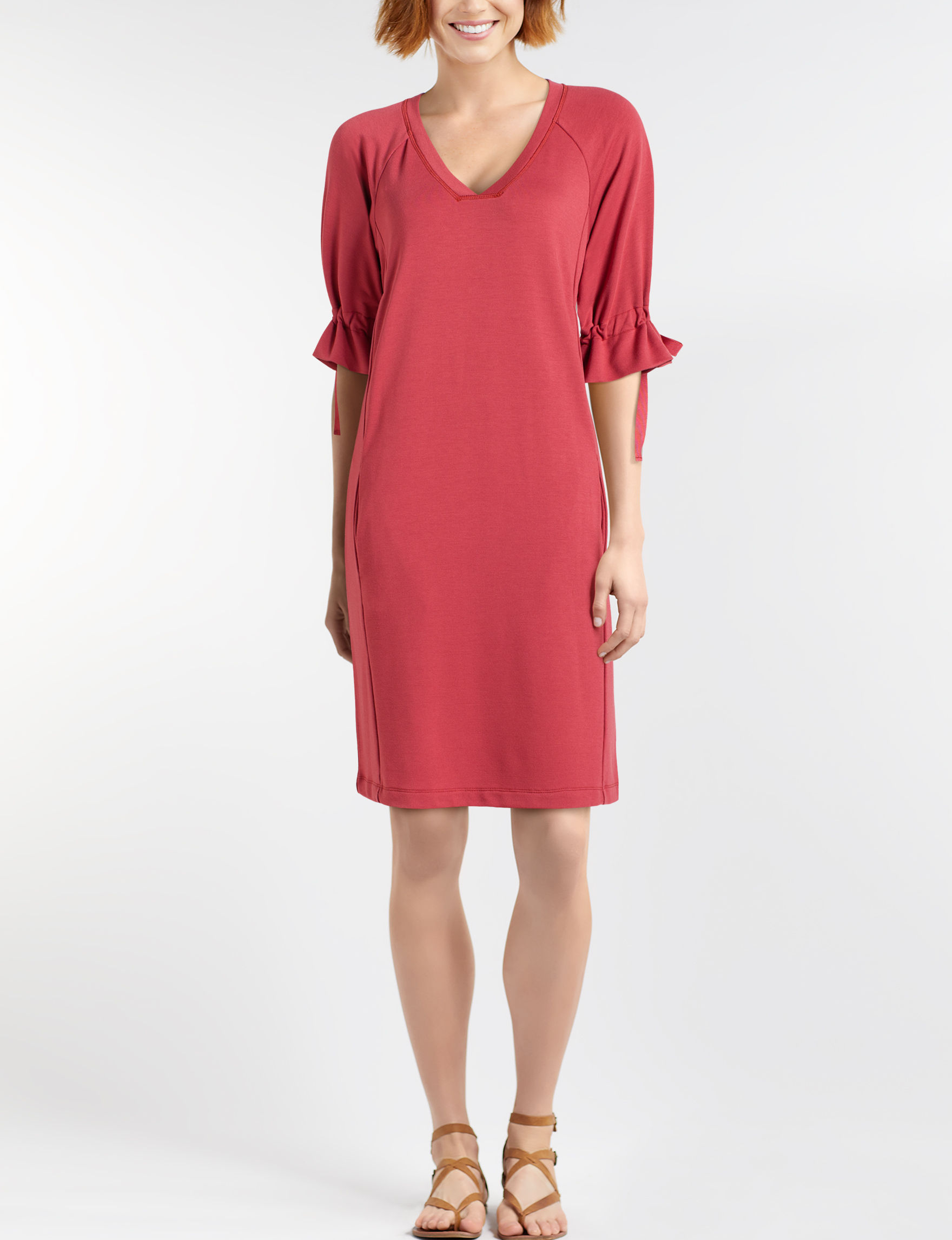 One World Red Everyday & Casual Shift Dresses