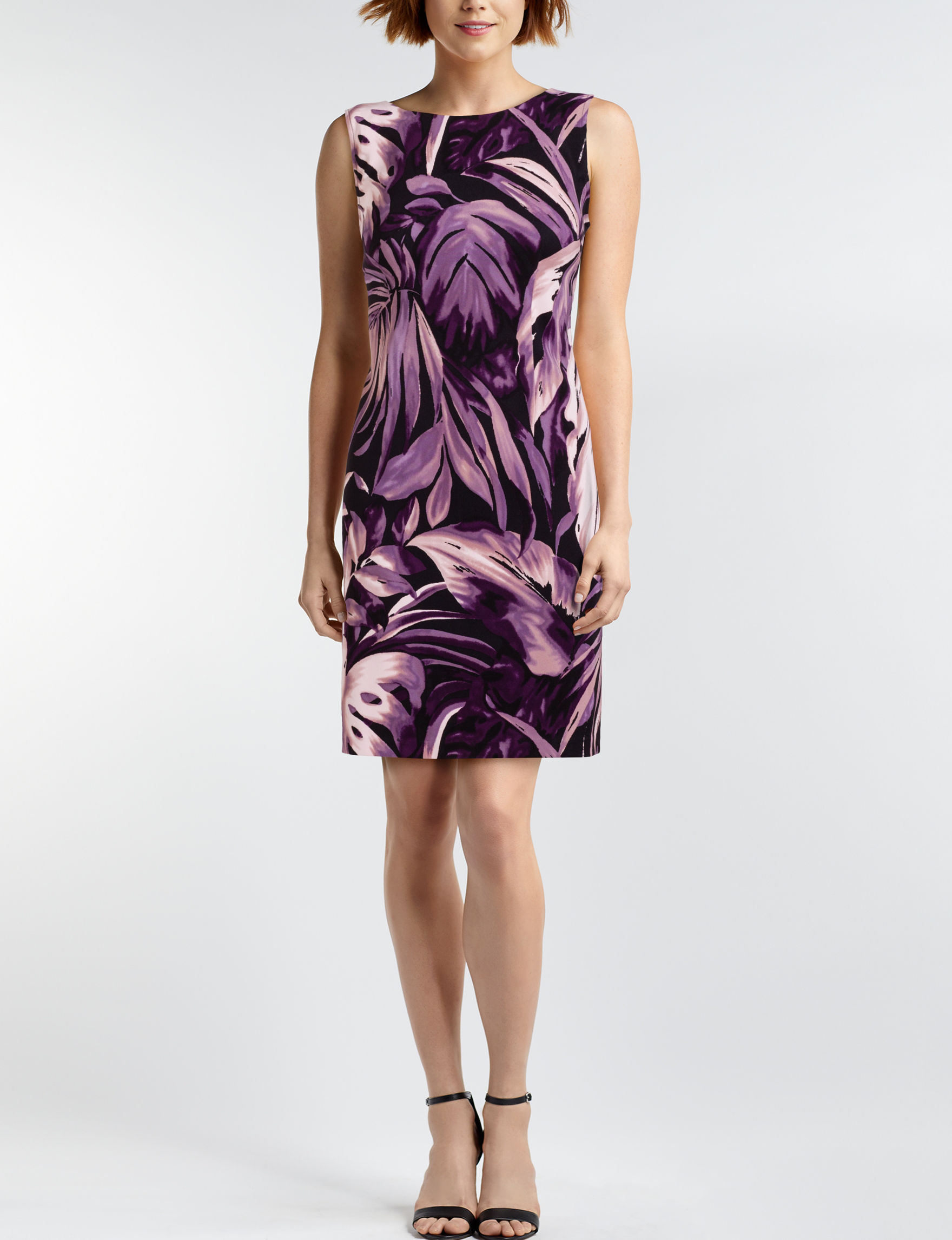 Connected Black / Purple Everyday & Casual Sheath Dresses