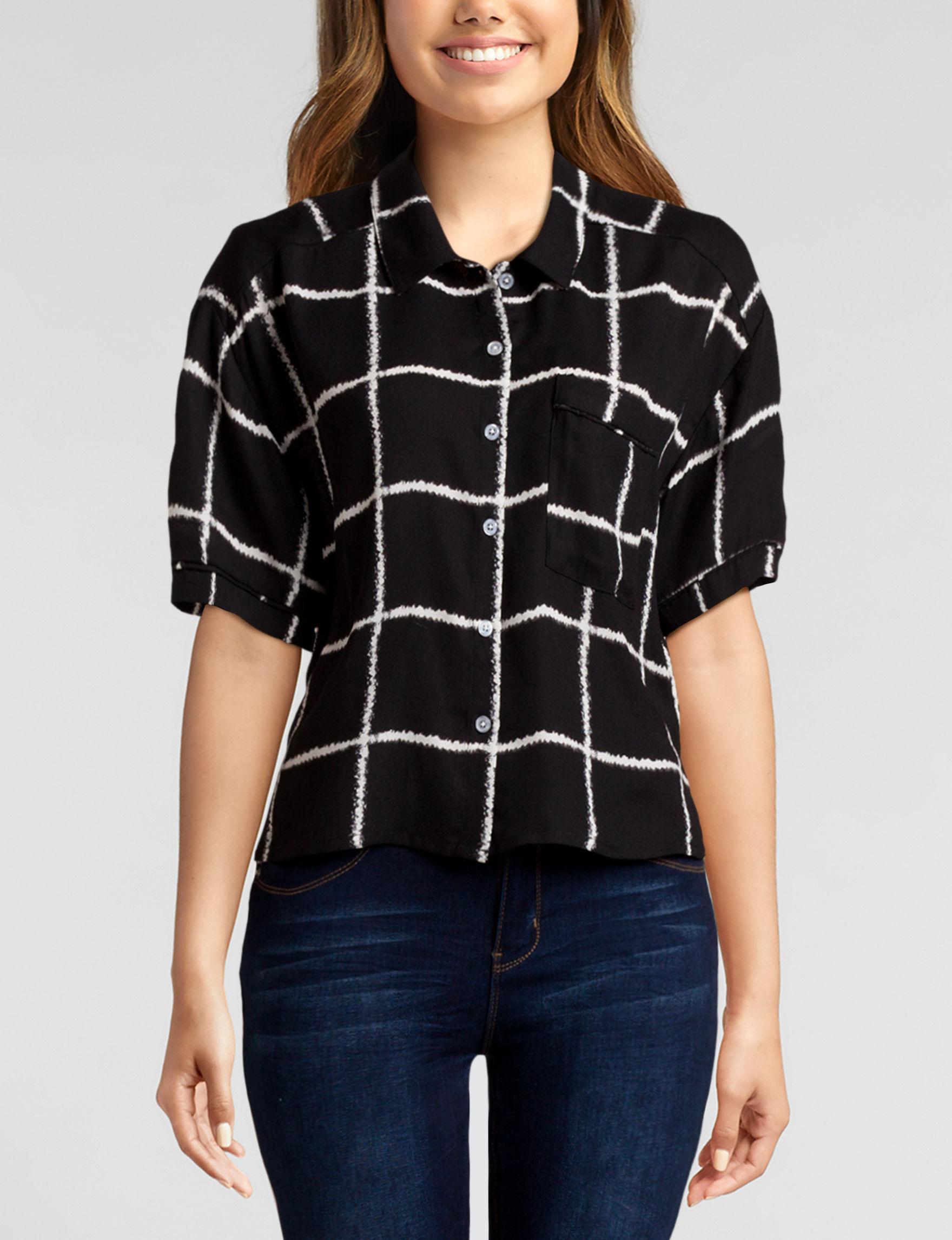 Heart Soul Black White Shirts & Blouses