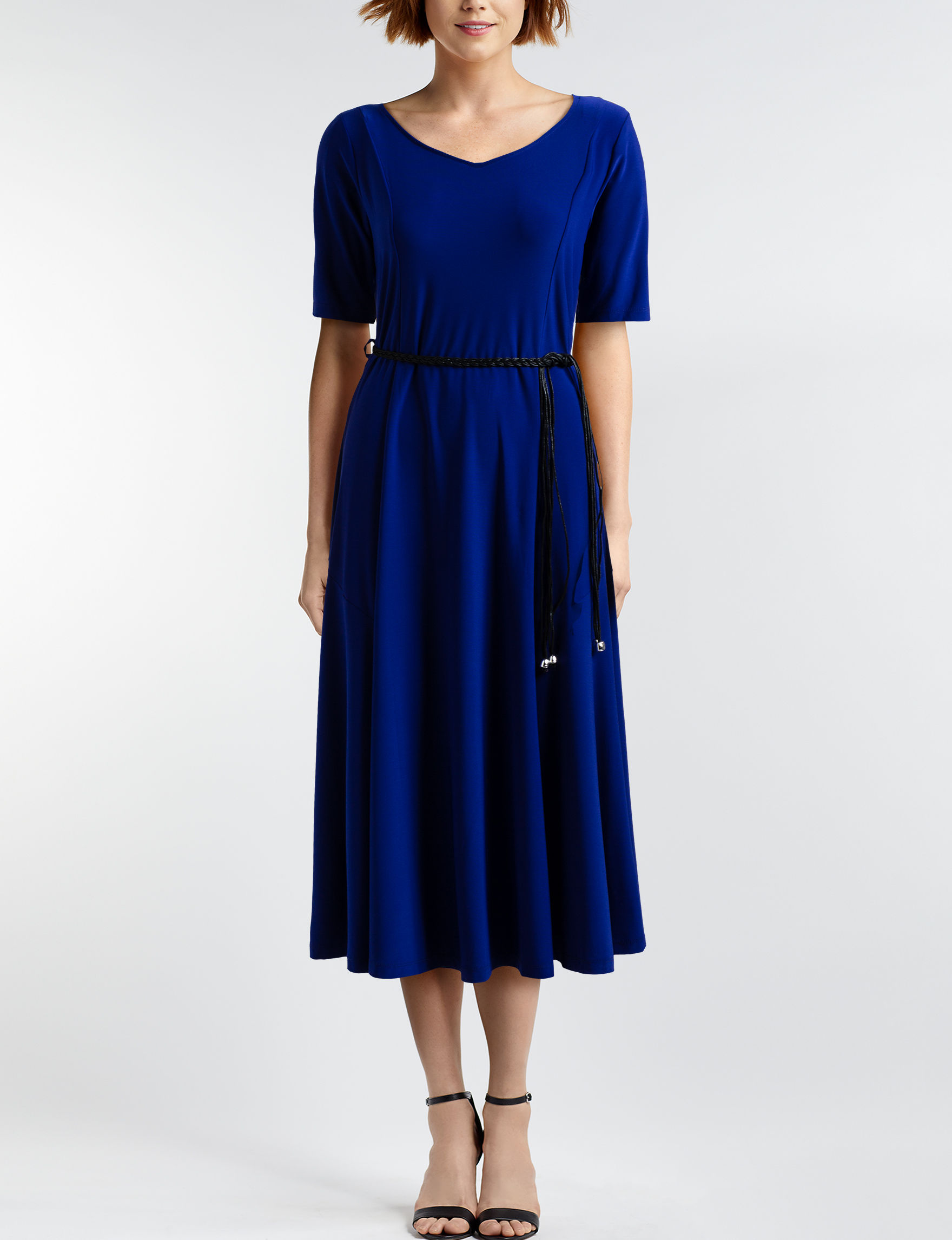 Nina Leonard Blue Everyday & Casual A-line Dresses