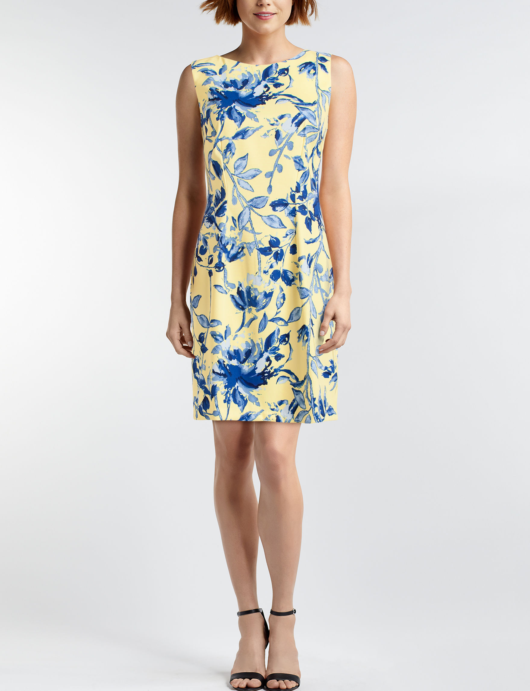 A. Byer Yellow Everyday & Casual Sheath Dresses