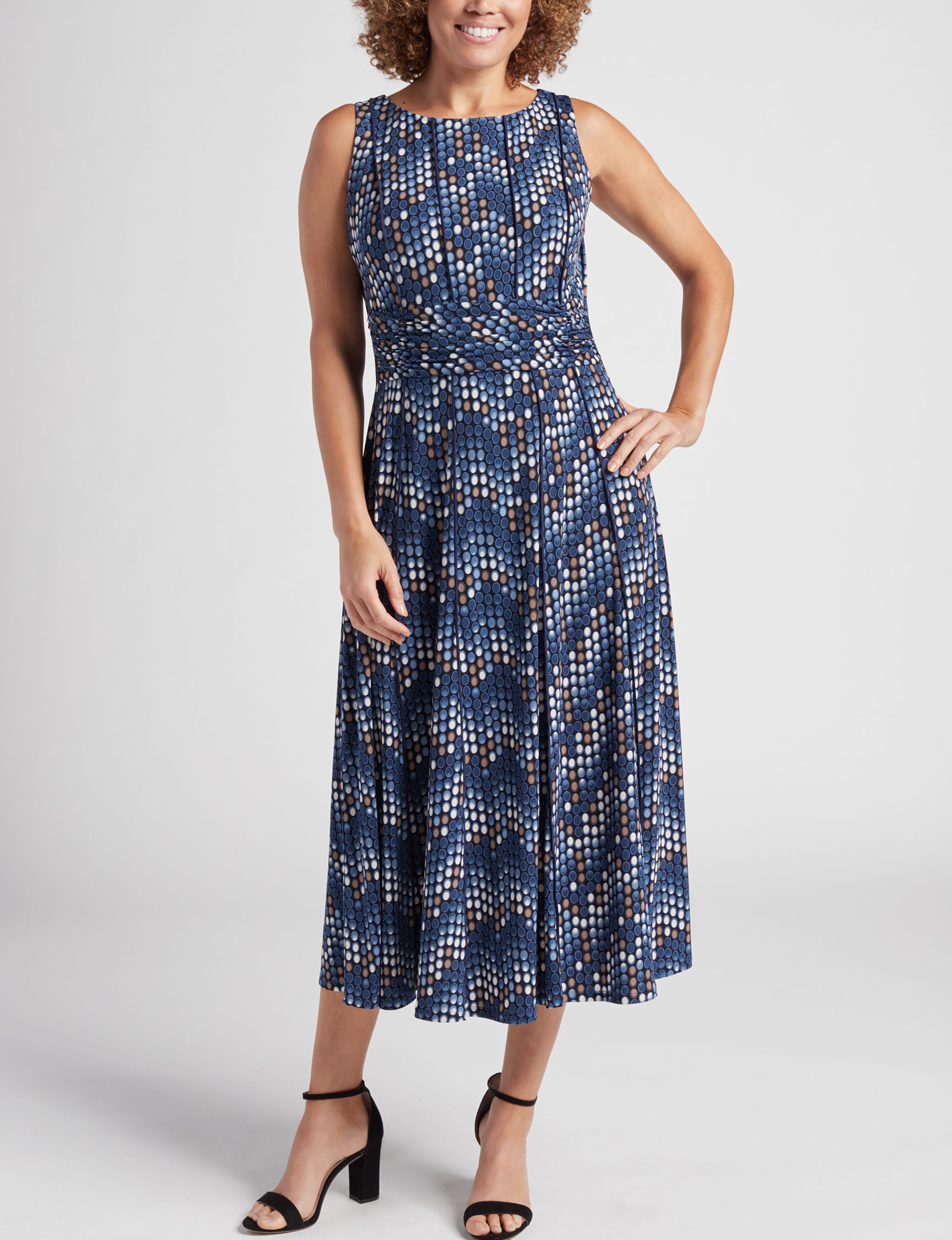Perceptions Navy Everyday & Casual Fit & Flare Dresses