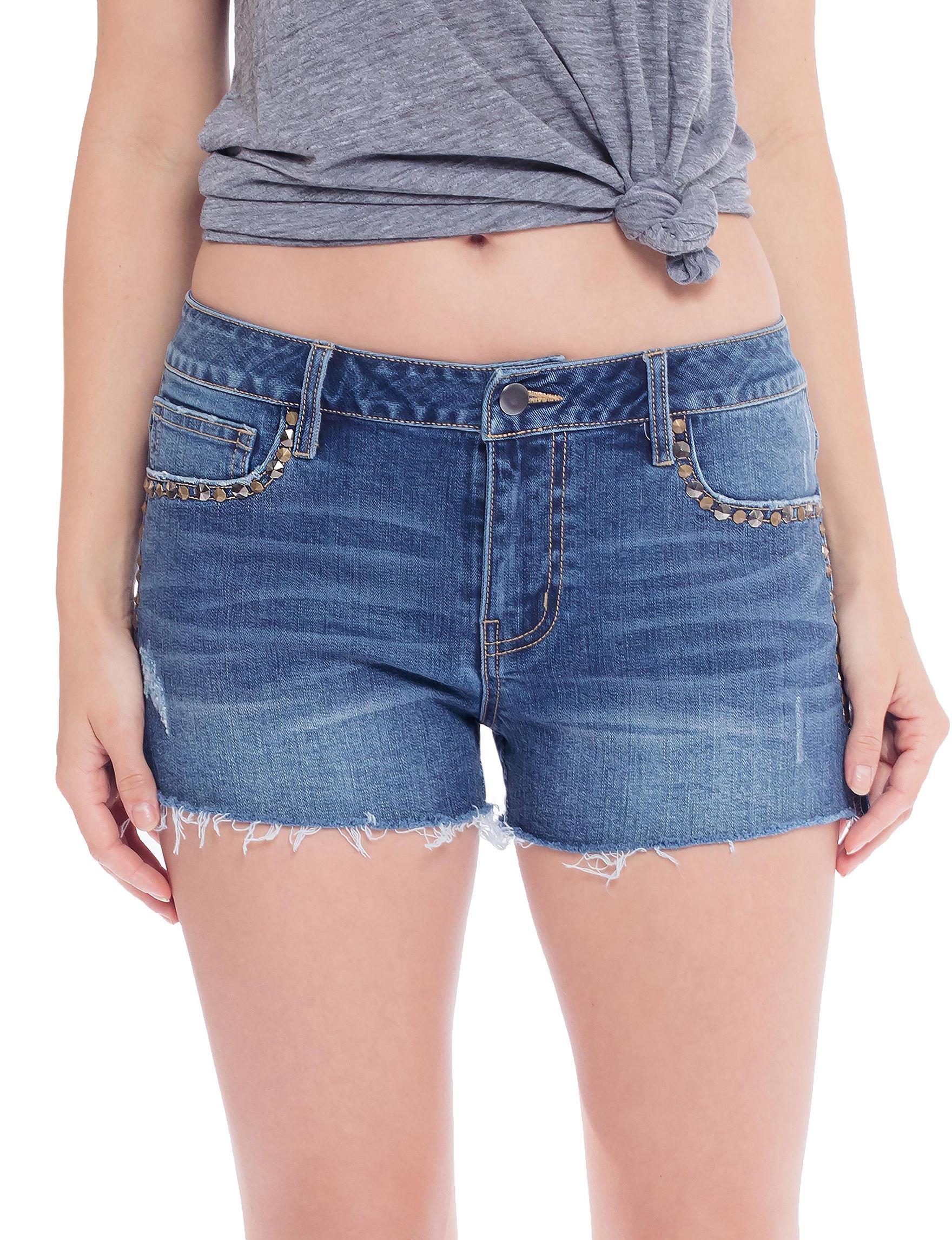 C + J Collections Blue Denim Shorts