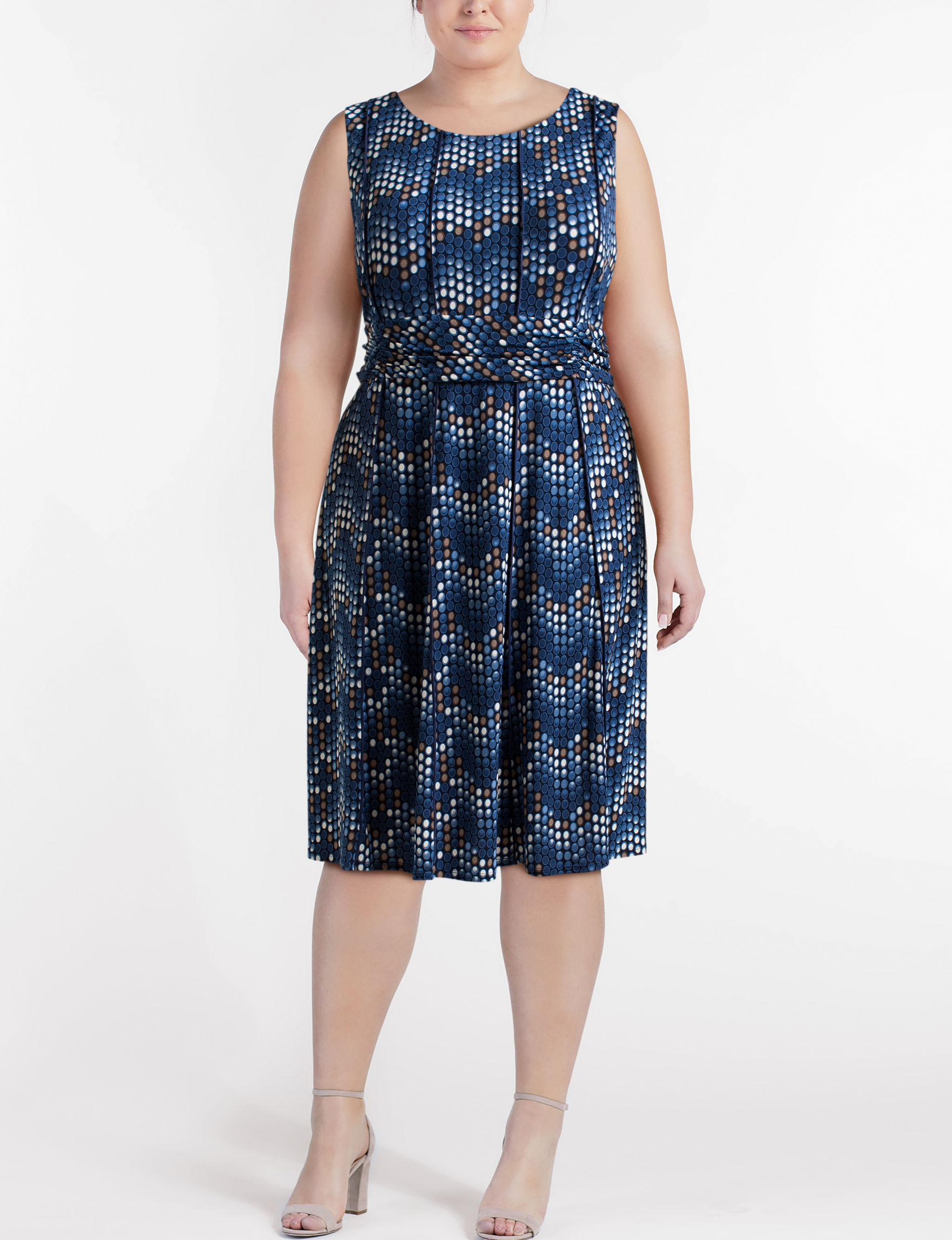 Perceptions Blue Everyday & Casual Fit & Flare Dresses