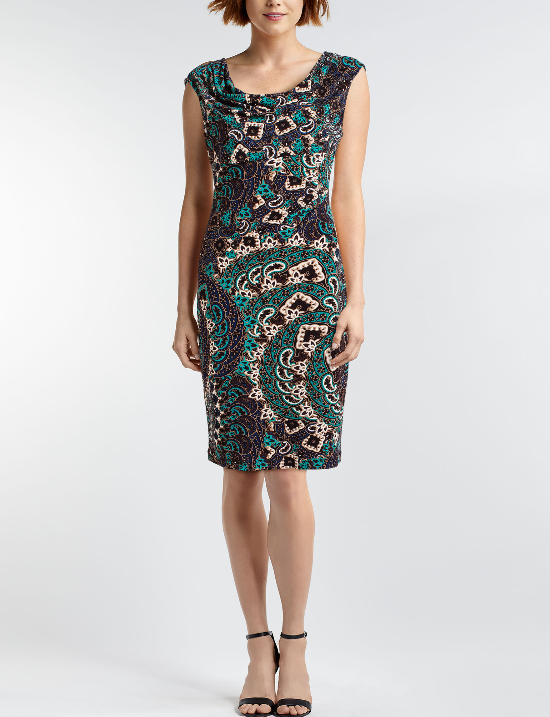 Connected Jade Everyday & Casual Sheath Dresses