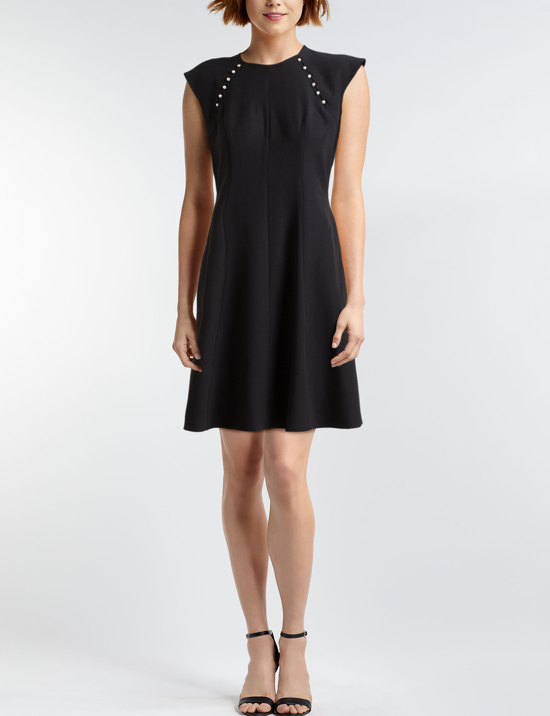 London Times Black Everyday & Casual A-line Dresses Fit & Flare Dresses