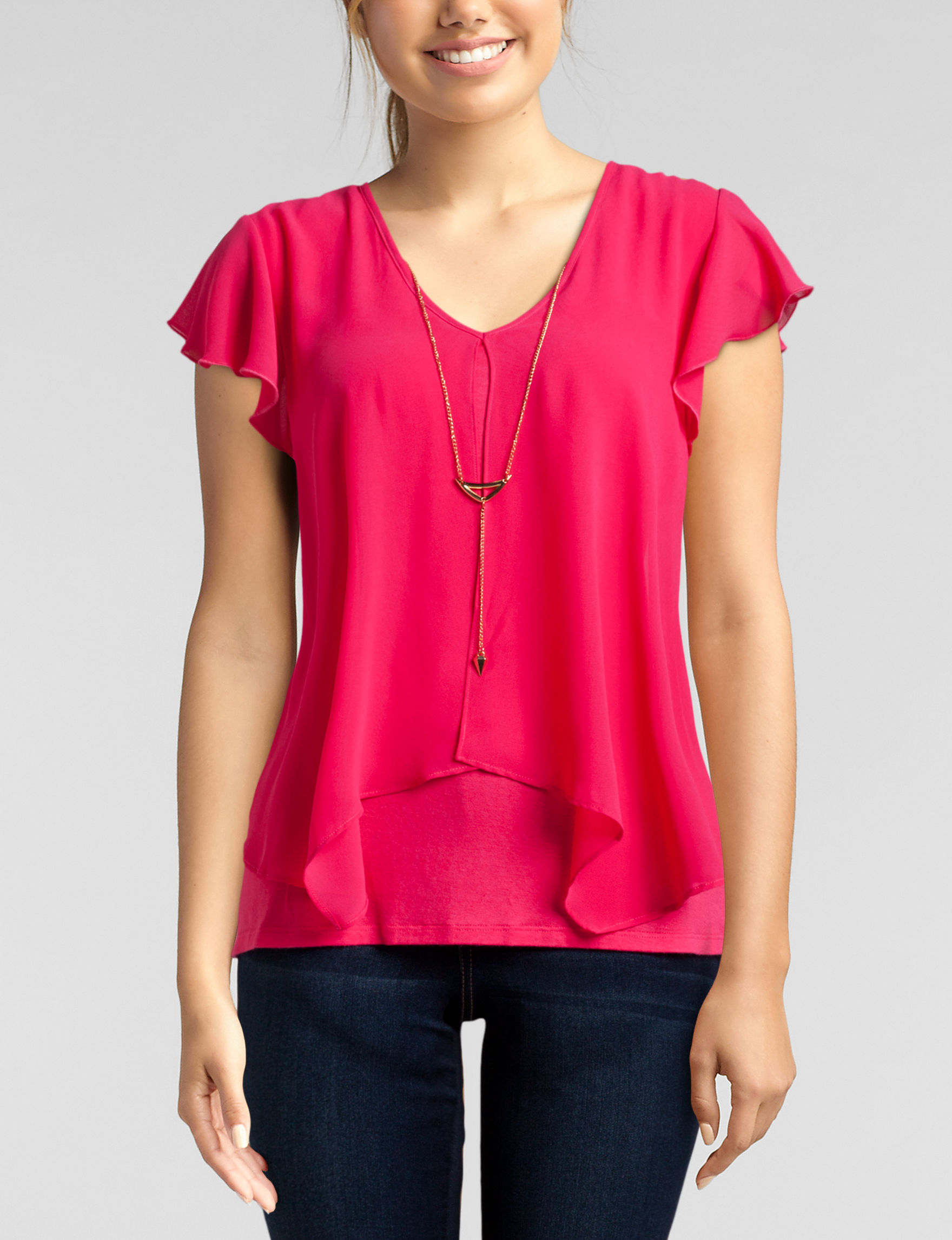 A. Byer Hot Pink Everyday & Casual Shirts & Blouses