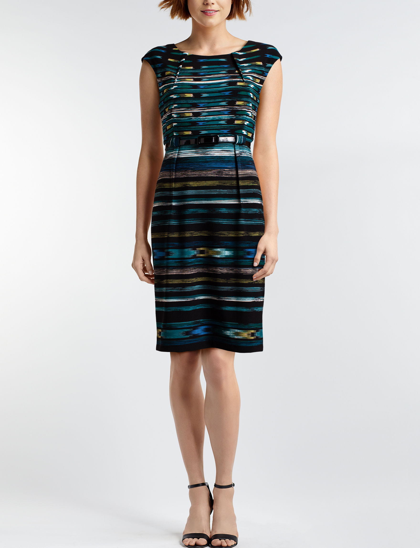 Connected Teal Everyday & Casual Sheath Dresses
