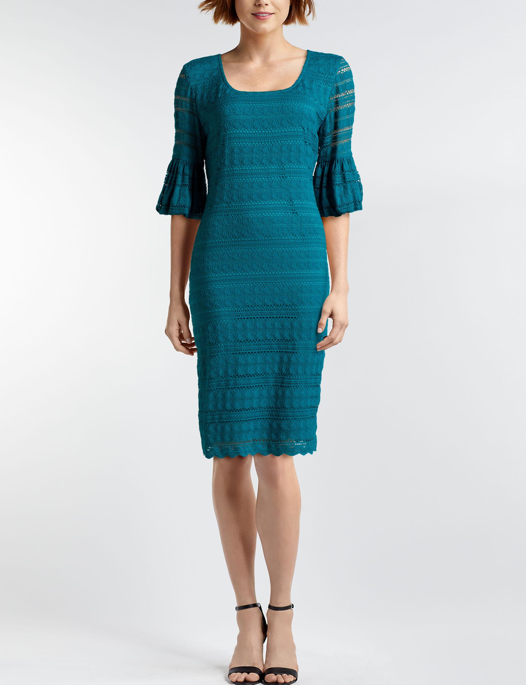 Ronni Nicole Teal Everyday & Casual Sheath Dresses