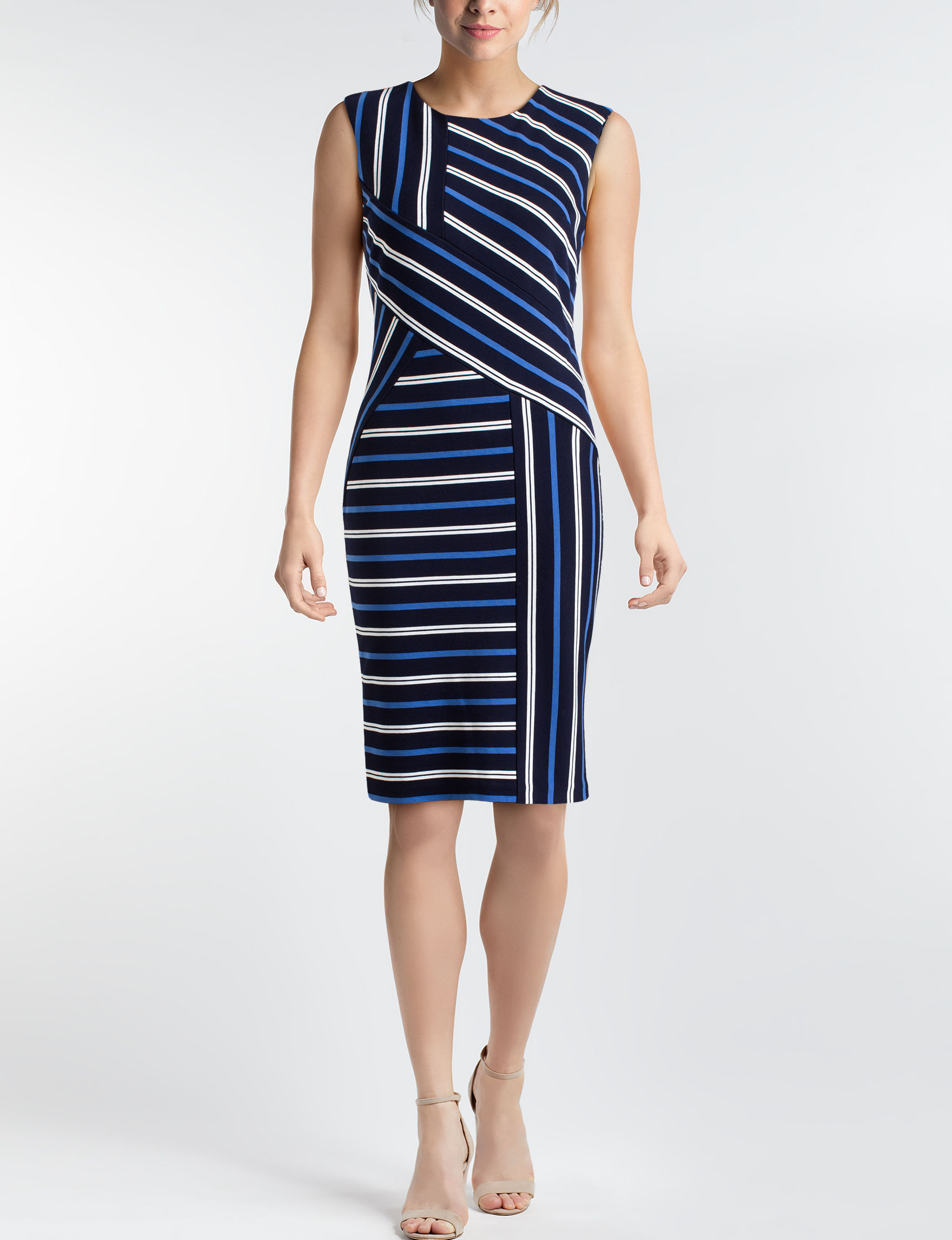 Beige by ECI Navy Everyday & Casual Sheath Dresses