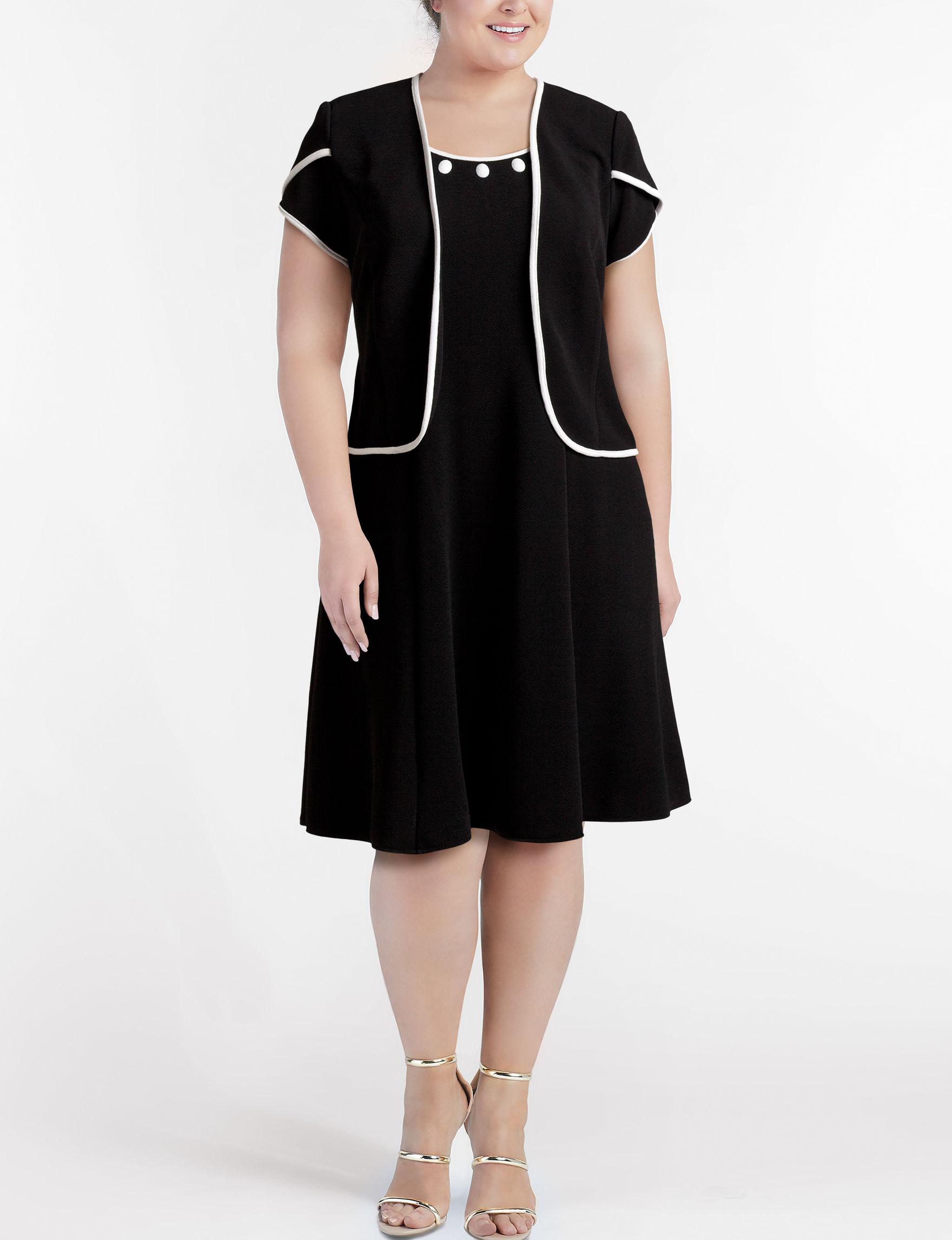 Maya Brooke Black /  White Everyday & Casual Jacket Dresses