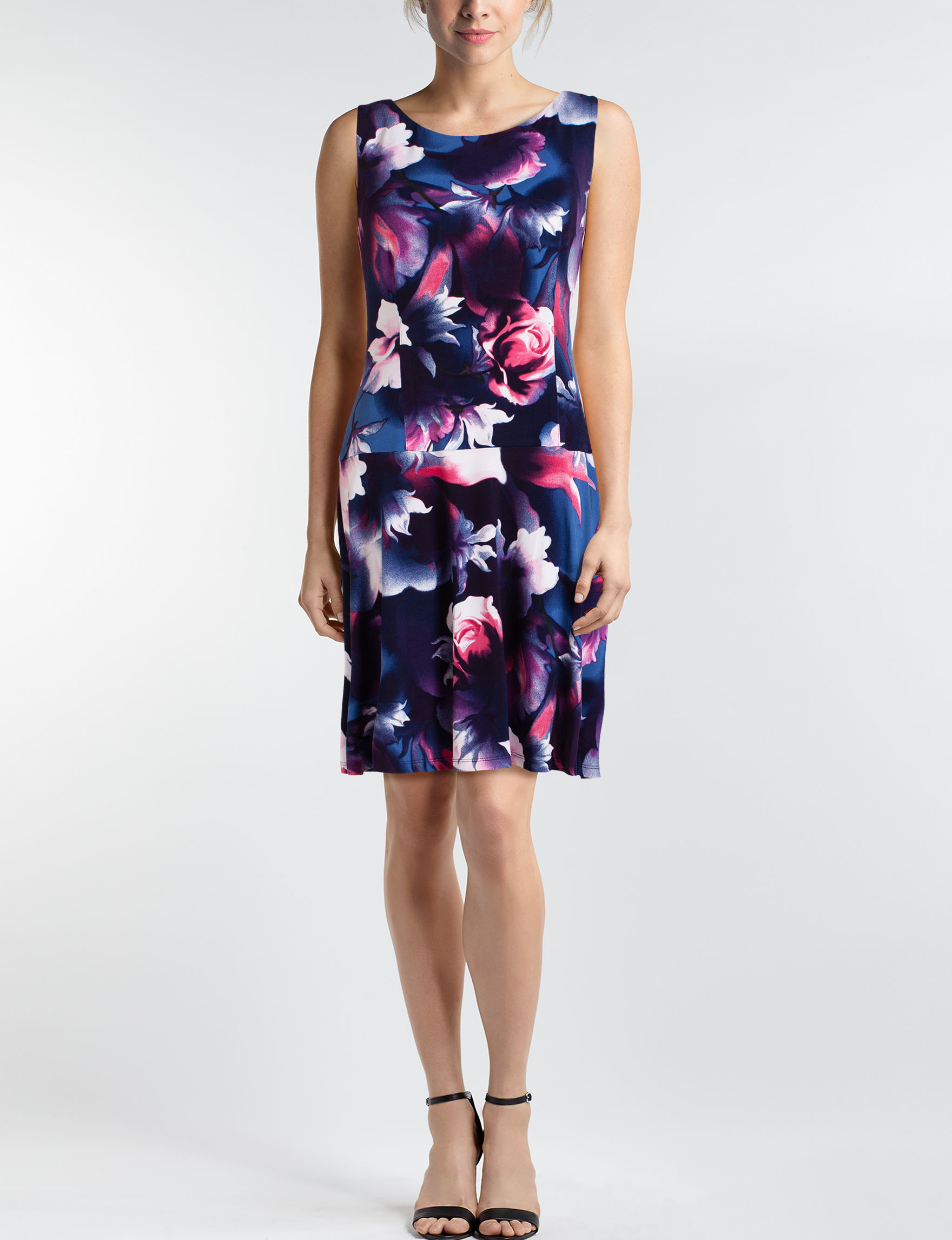 Connected Navy Floral Everyday & Casual Shift Dresses