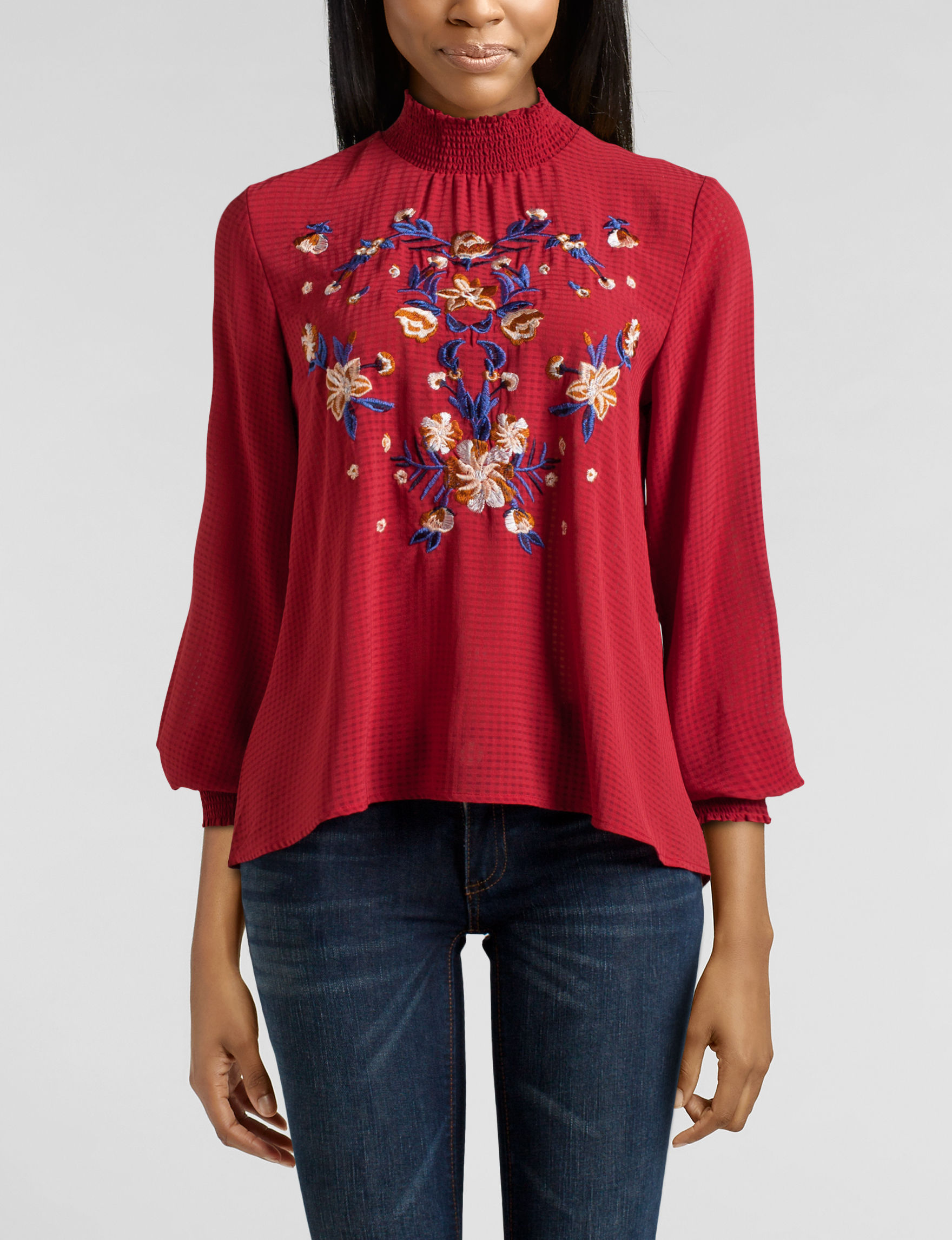Heart Soul Red Shirts & Blouses