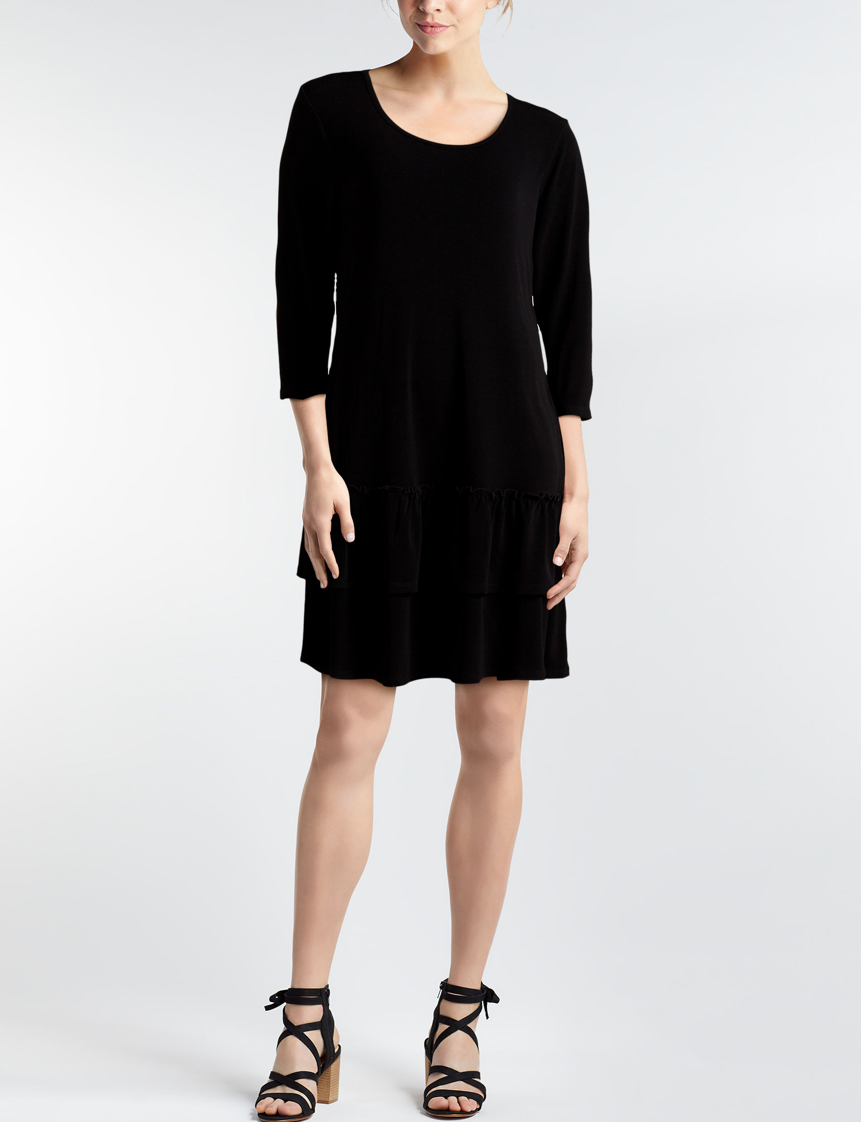 Nina Leonard Black Everyday & Casual A-line Dresses Fit & Flare Dresses