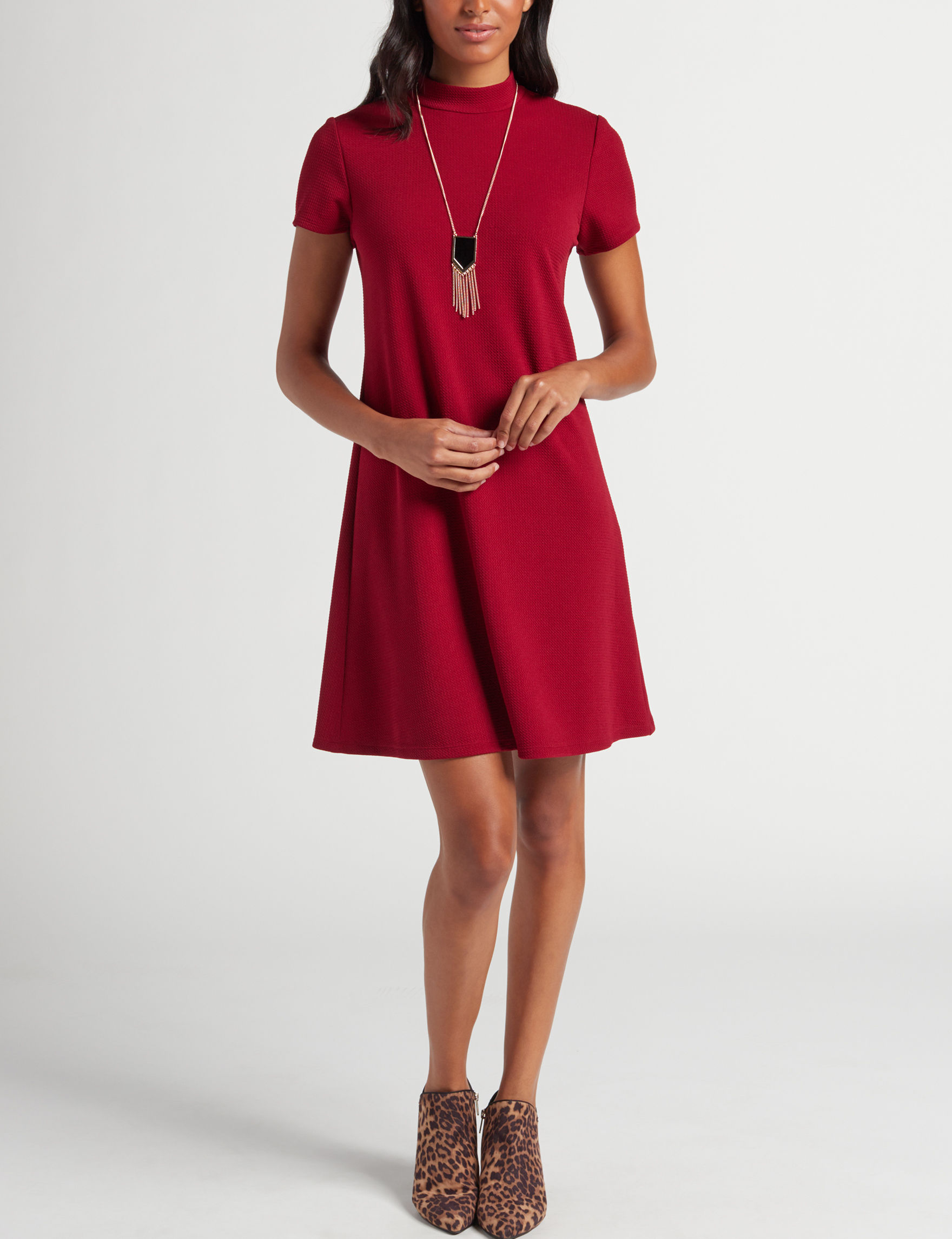 A. Byer Wine Everyday & Casual Shift Dresses