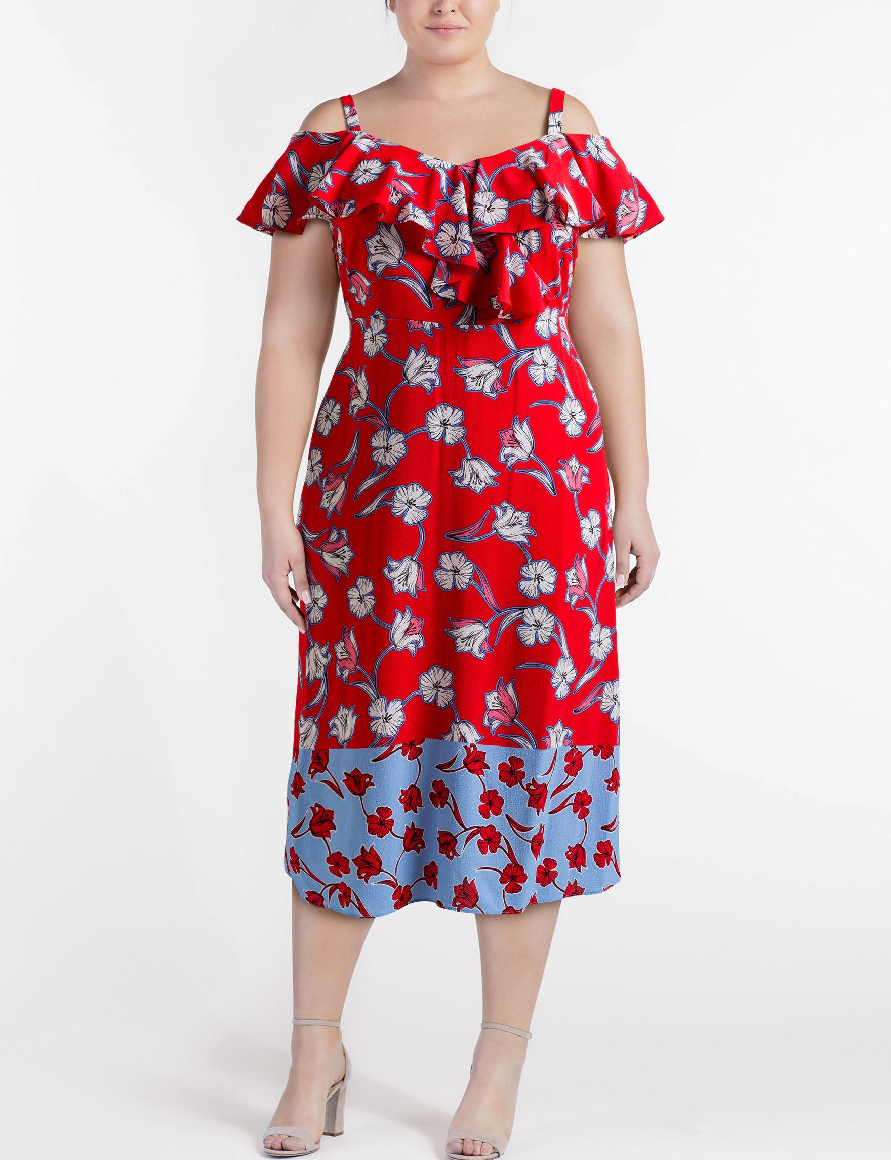 a5d53a1d5400 London Times Plus-size Floral Maxi Dress