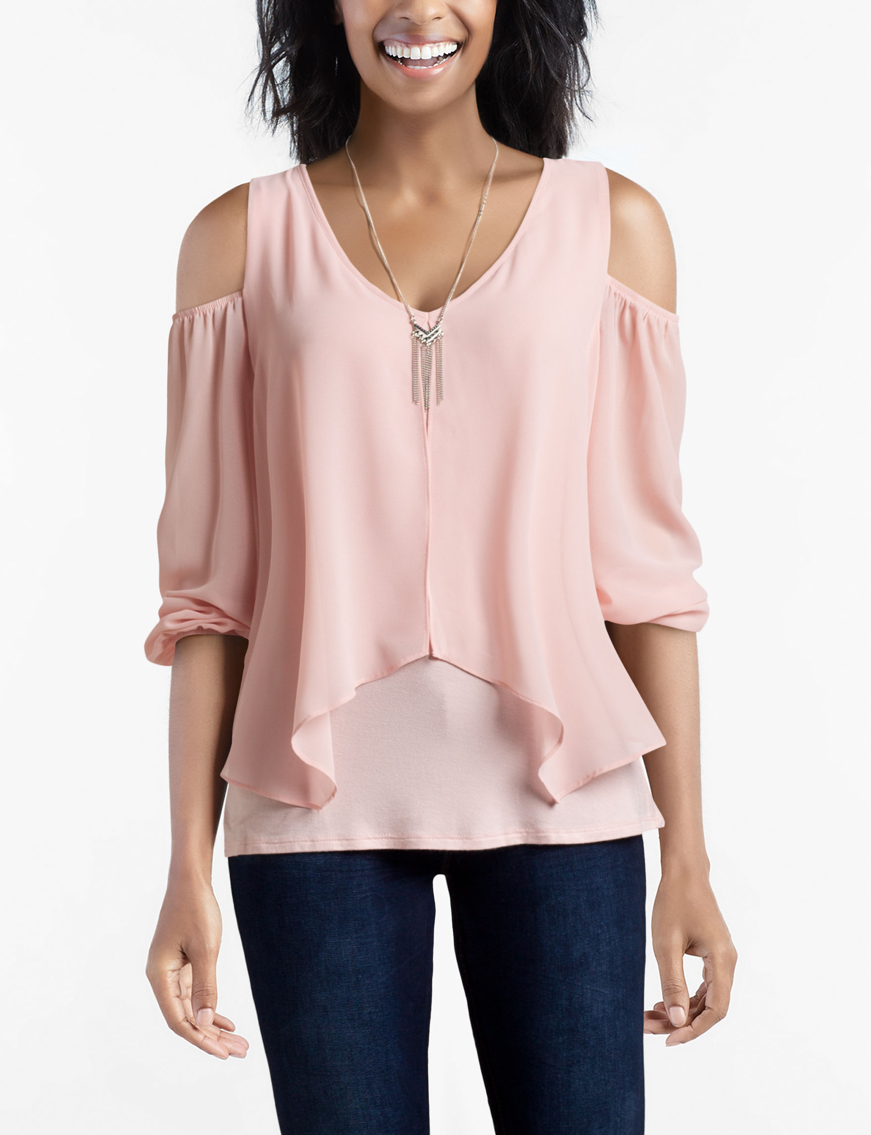 A. Byer Pink Everyday & Casual Shirts & Blouses