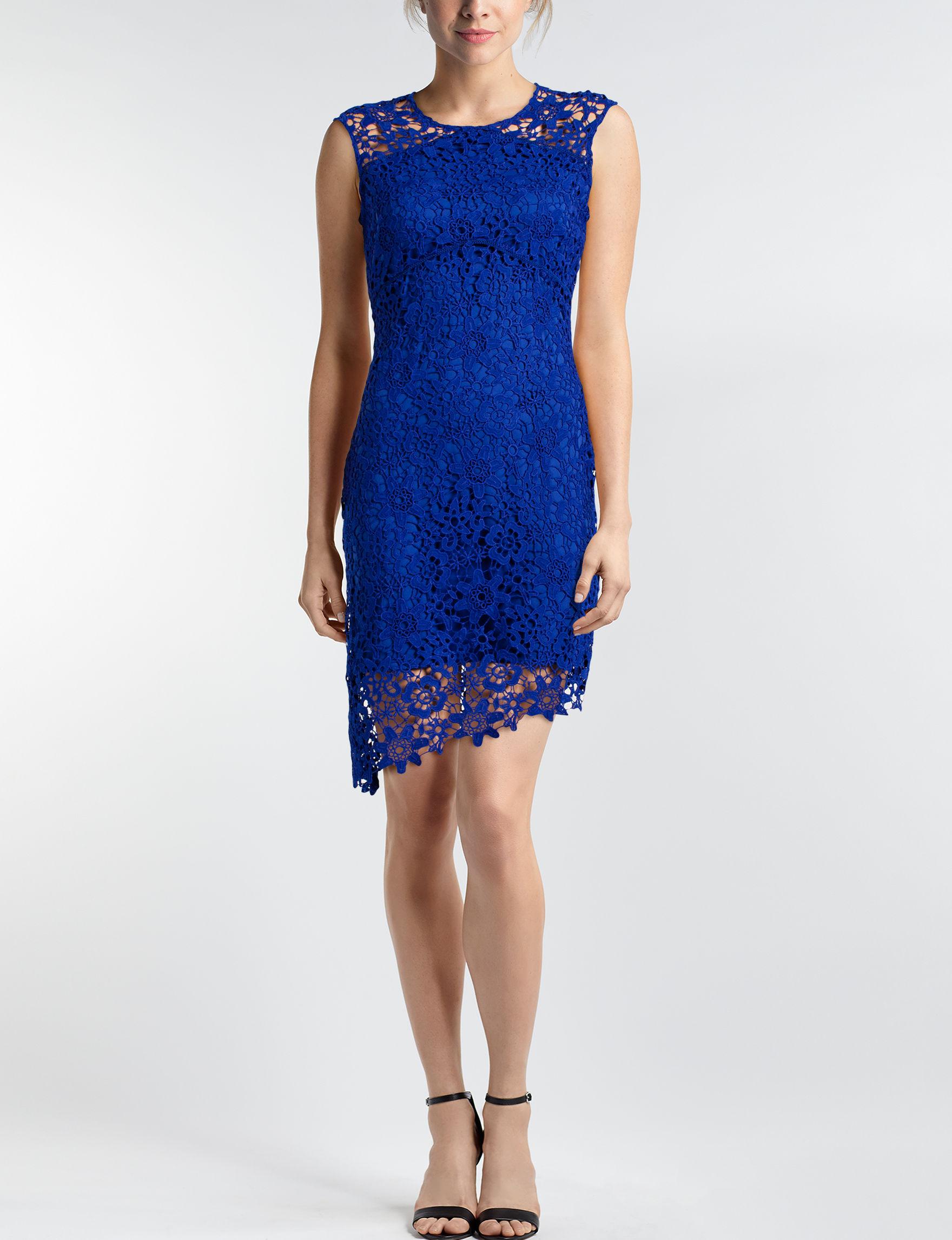 Bebe Blue Evening & Formal Sheath Dresses