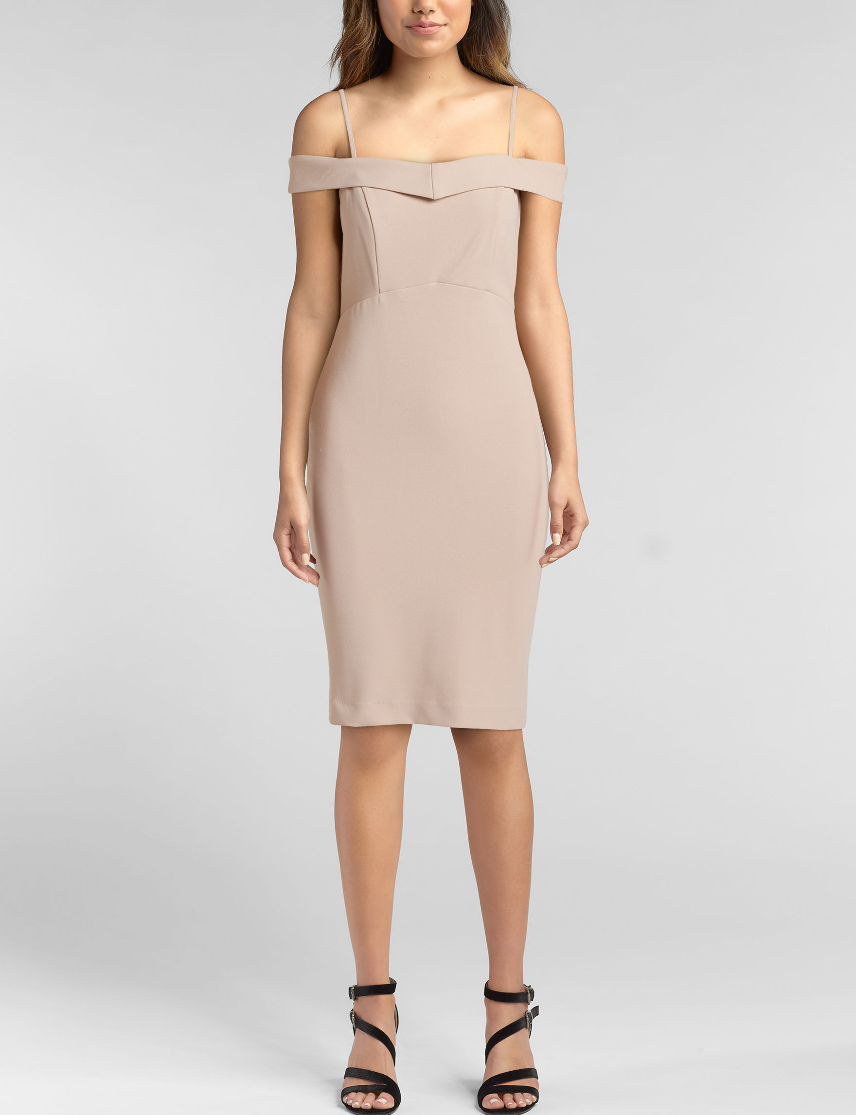 Bebe Nude Cocktail & Party Evening & Formal Fit & Flare Dresses