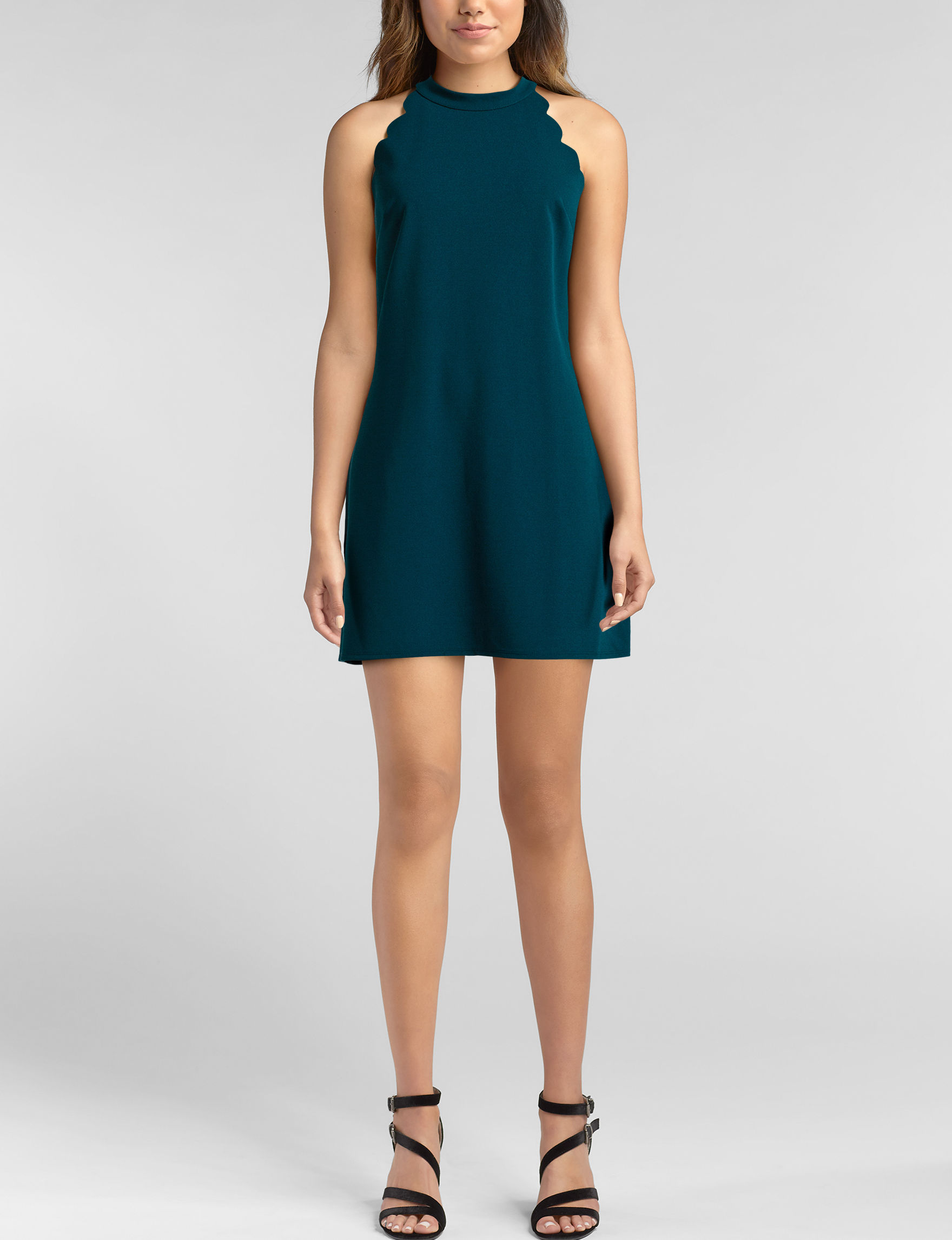 A. Byer Teal Cocktail & Party Fit & Flare Dresses