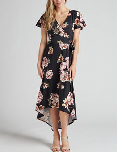 65d401bb8eac A. Byer Black Floral Everyday   Casual