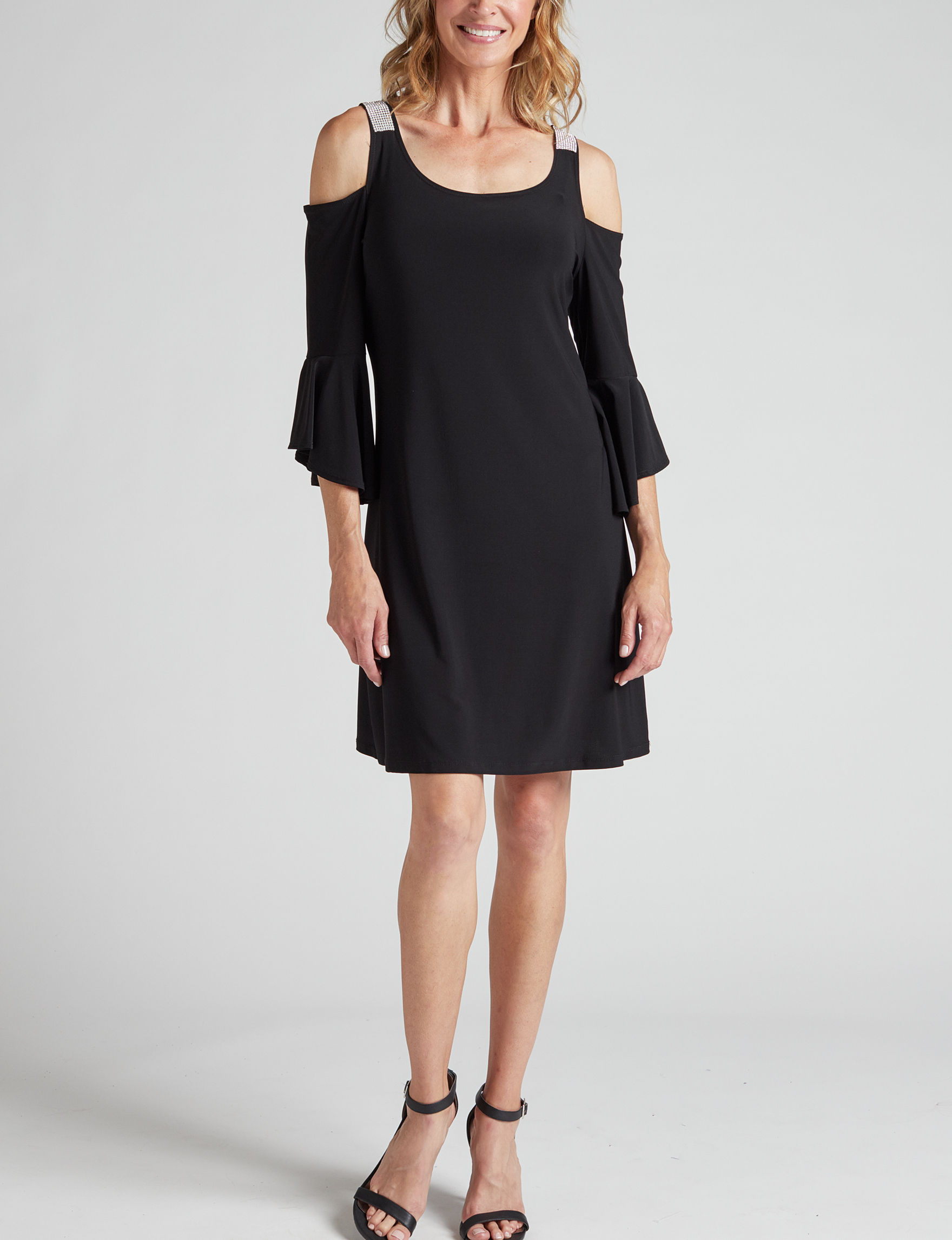 Onyx Nite Black Cocktail & Party Evening & Formal Fit & Flare Dresses