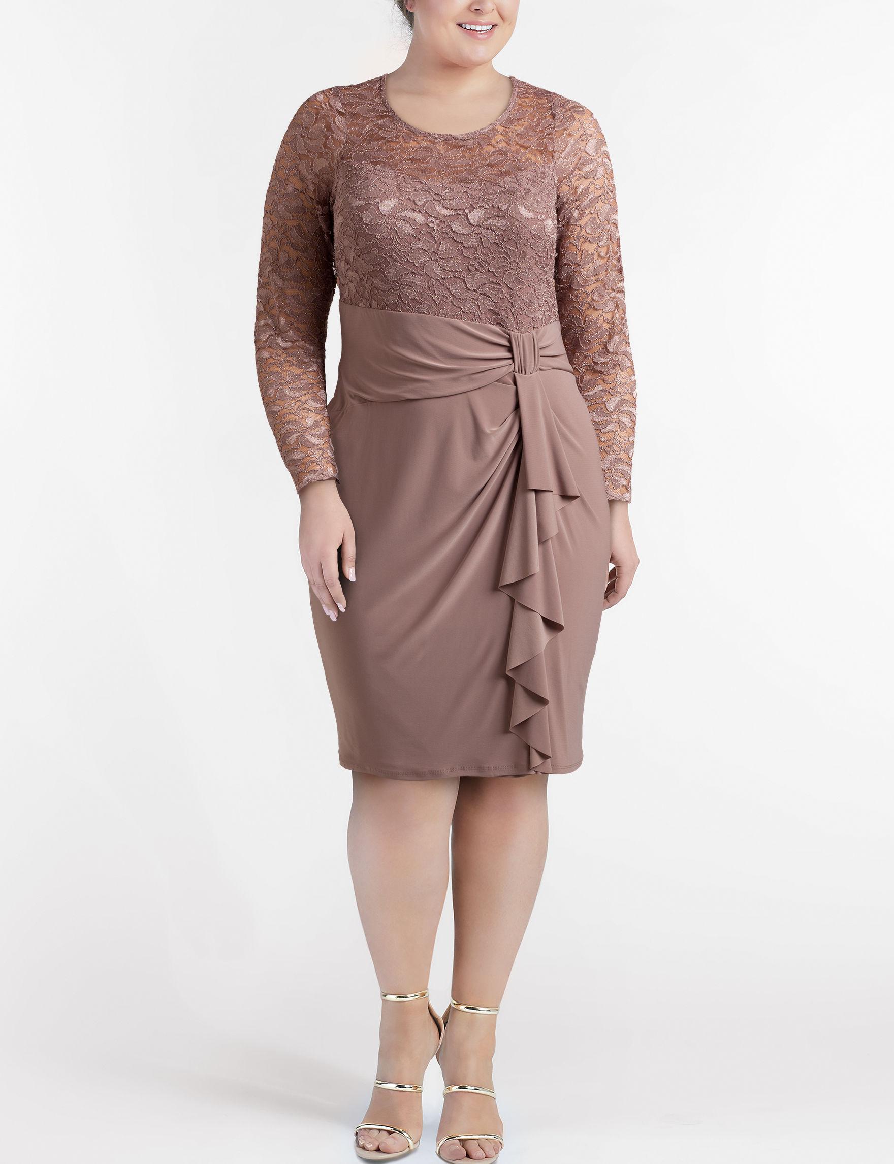 Marina Mocha Cocktail & Party Evening & Formal Sheath Dresses