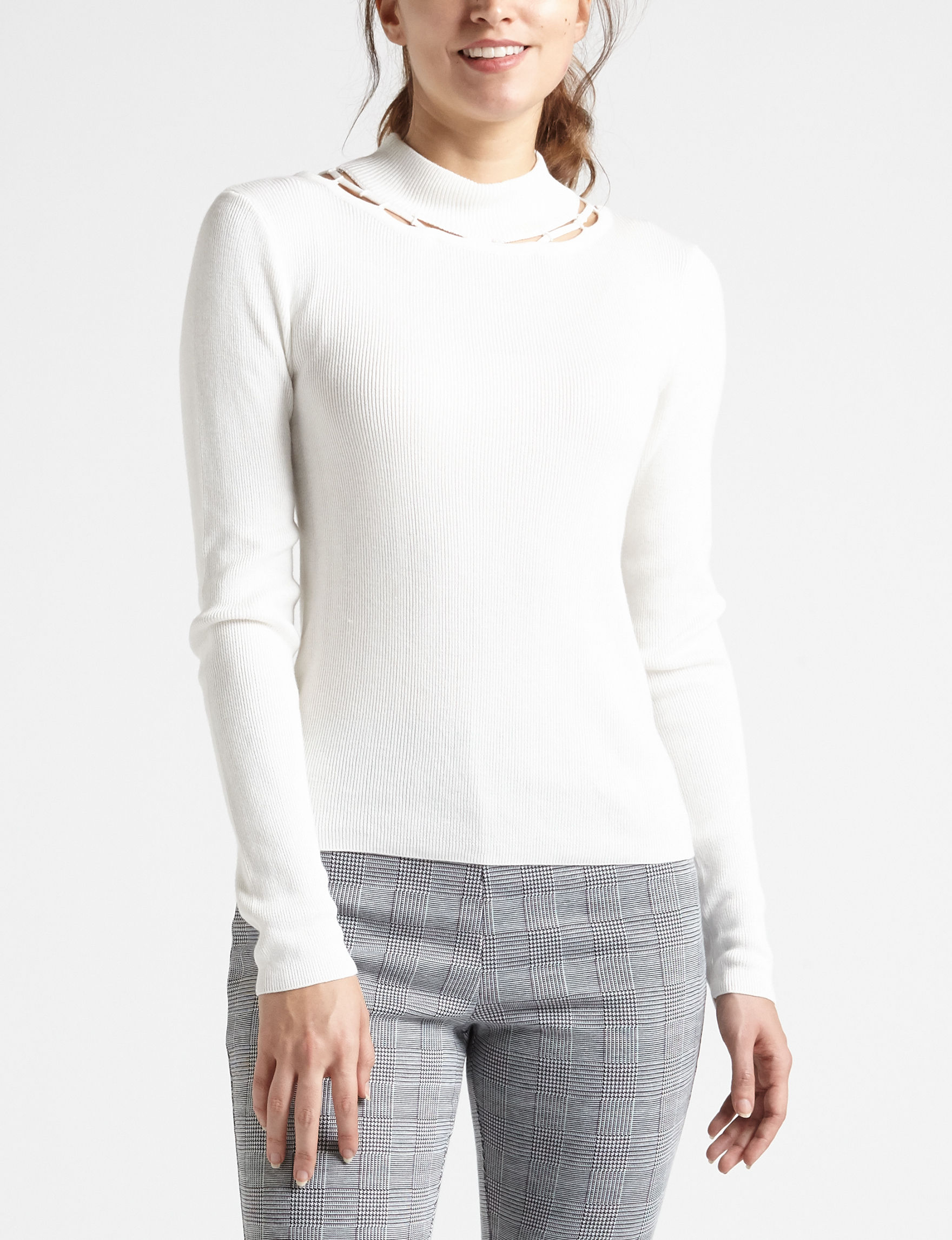 XOXO White Shirts & Blouses