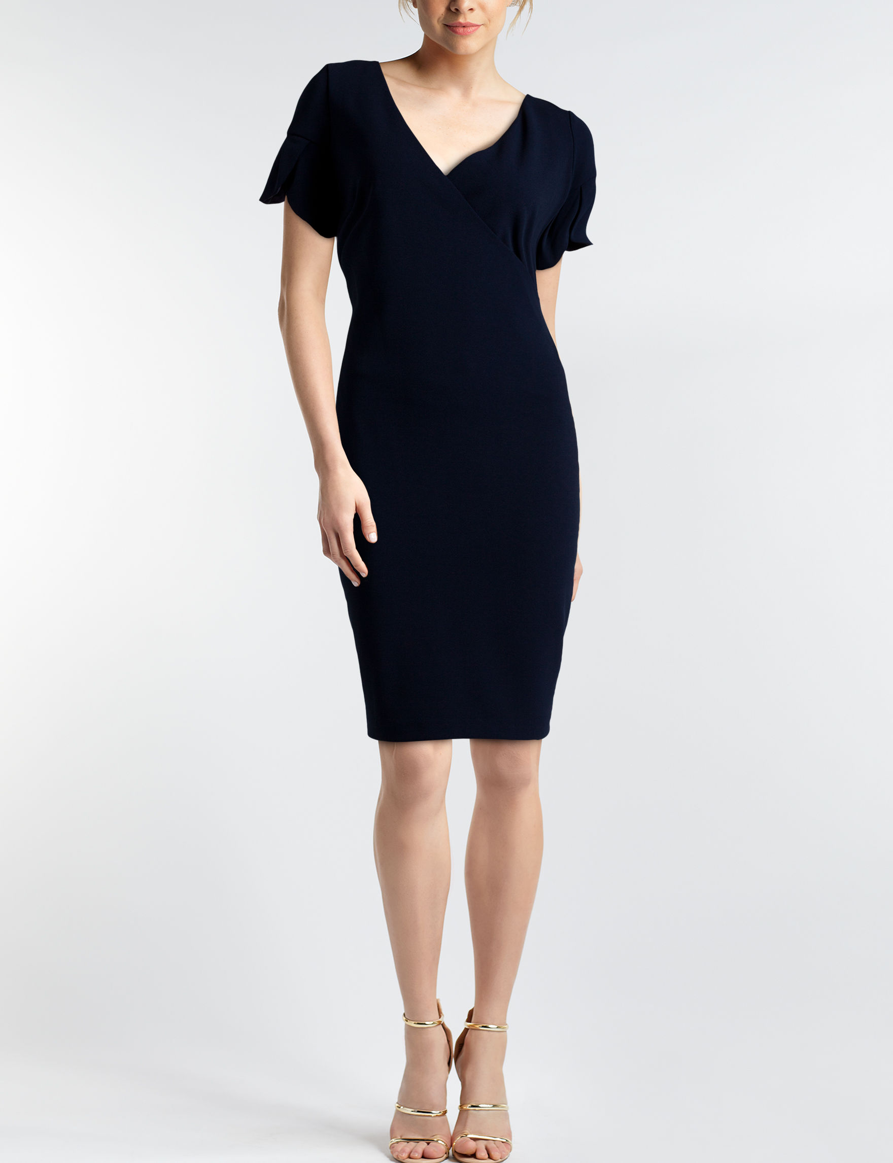 Glamour Navy Everyday & Casual Sheath Dresses