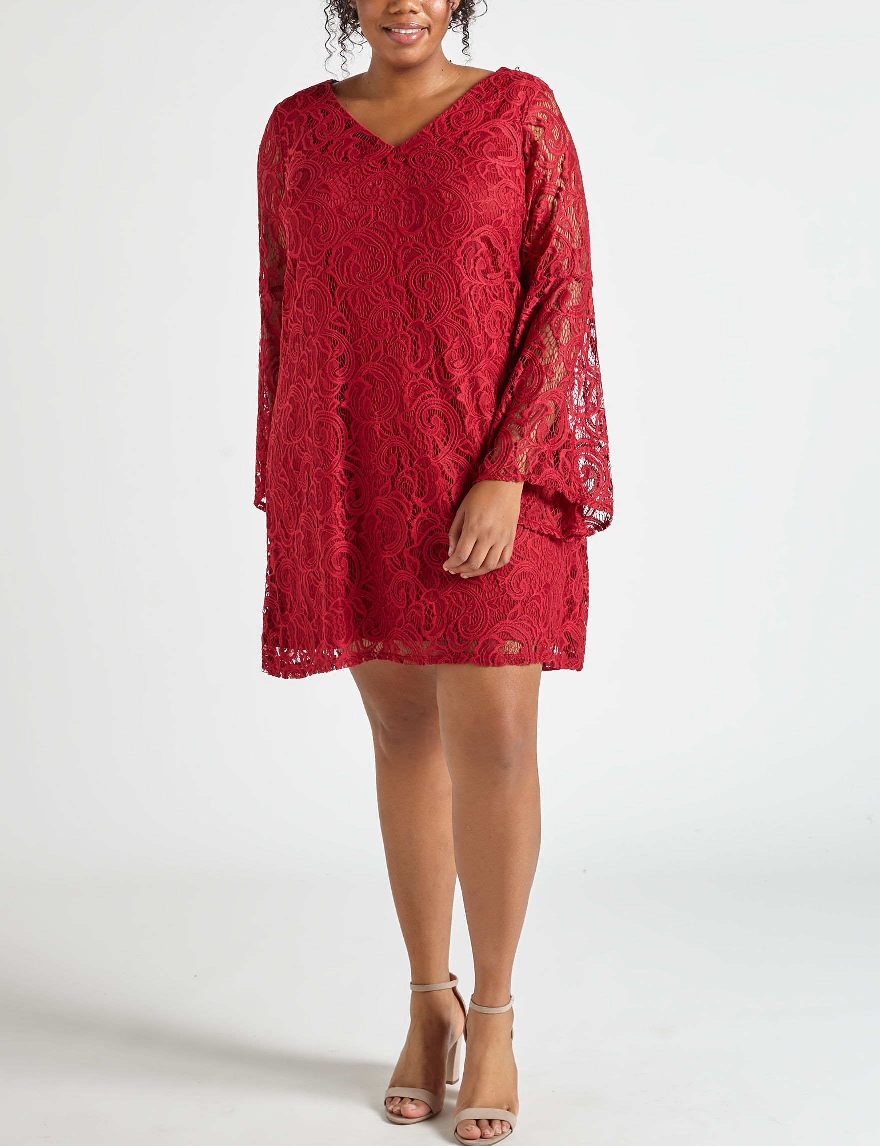 Madison Leigh Red Everyday & Casual Shift Dresses