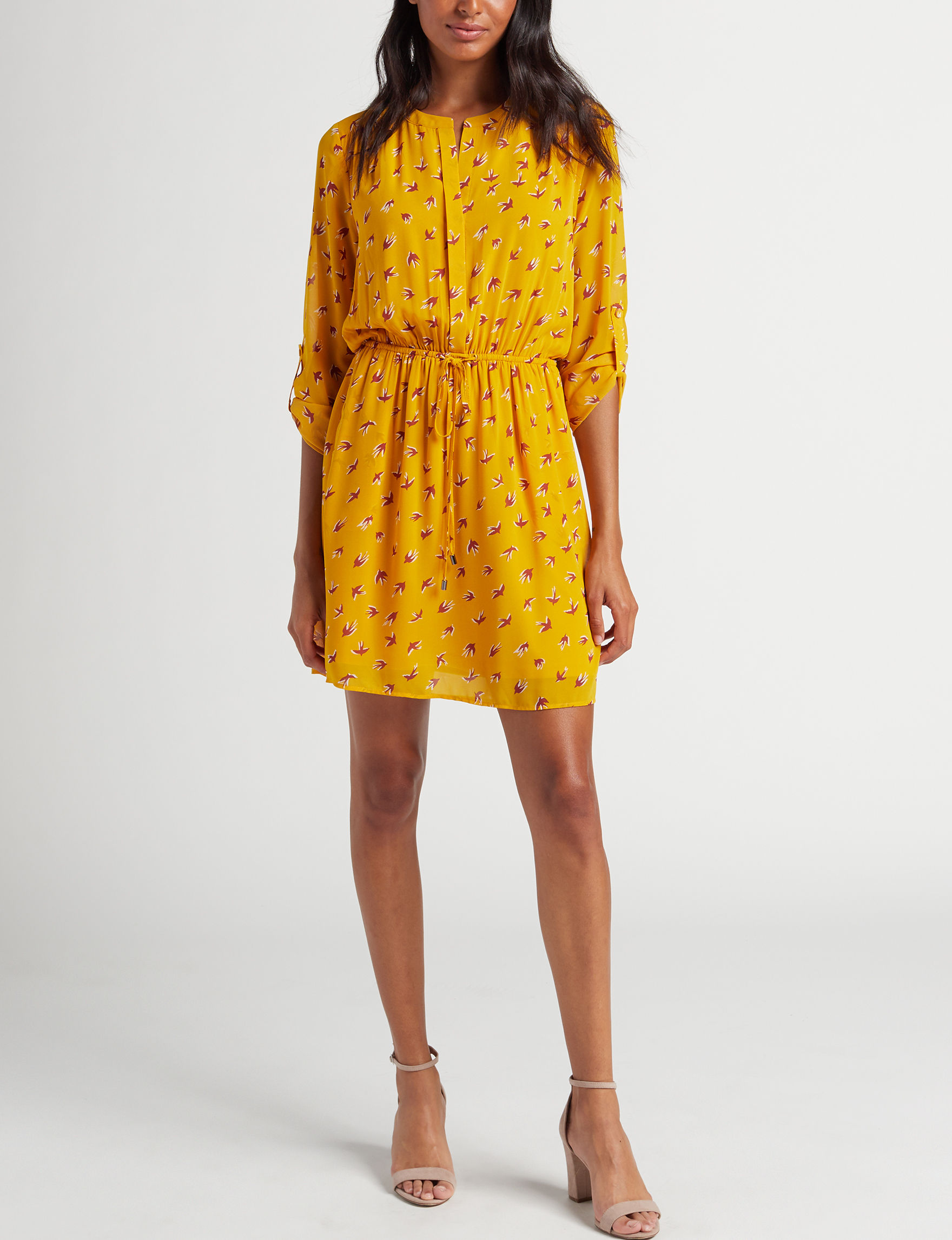 Signature Studio Yellow Everyday & Casual Fit & Flare Dresses