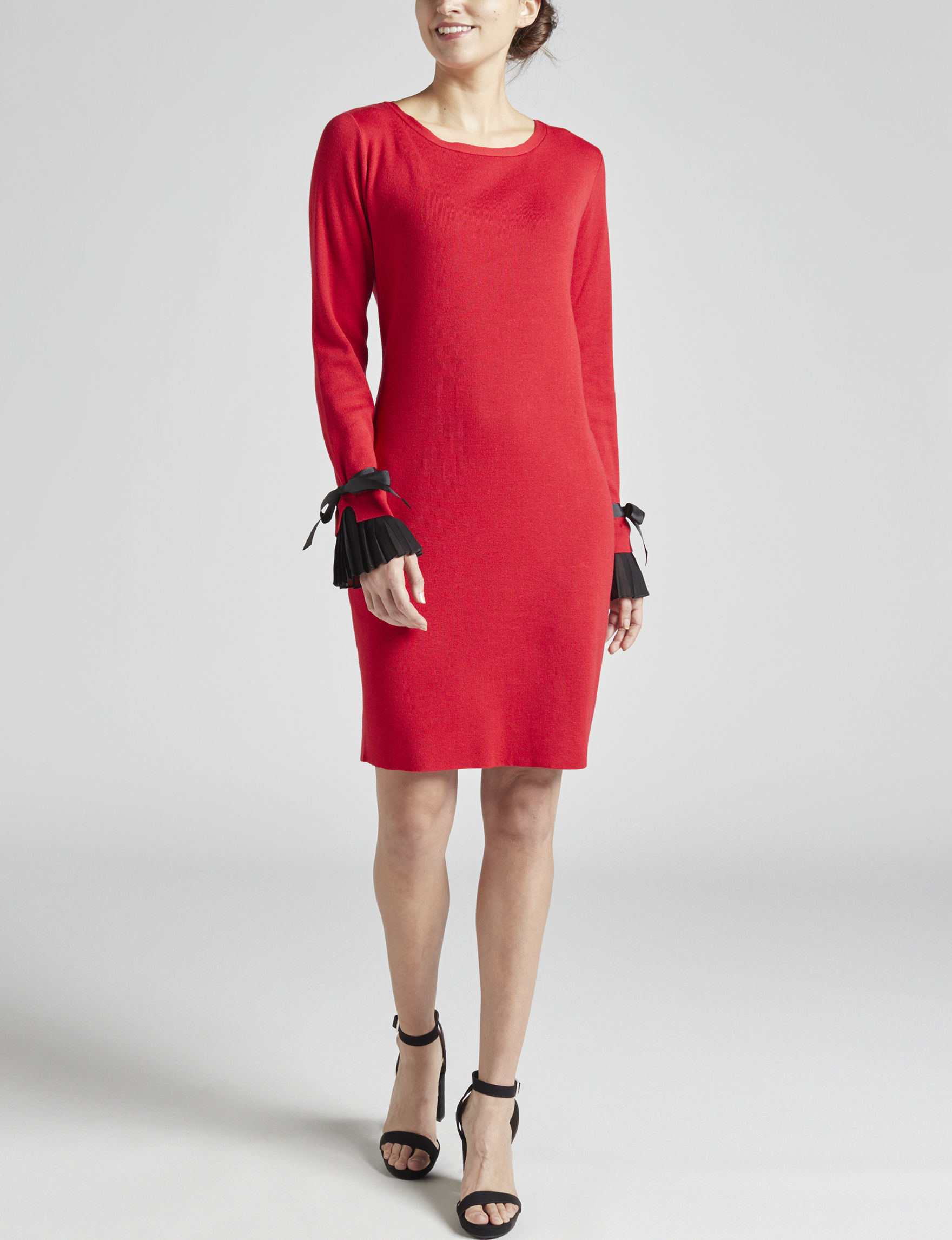 Harlow & Rose Red Everyday & Casual Sweater Dresses
