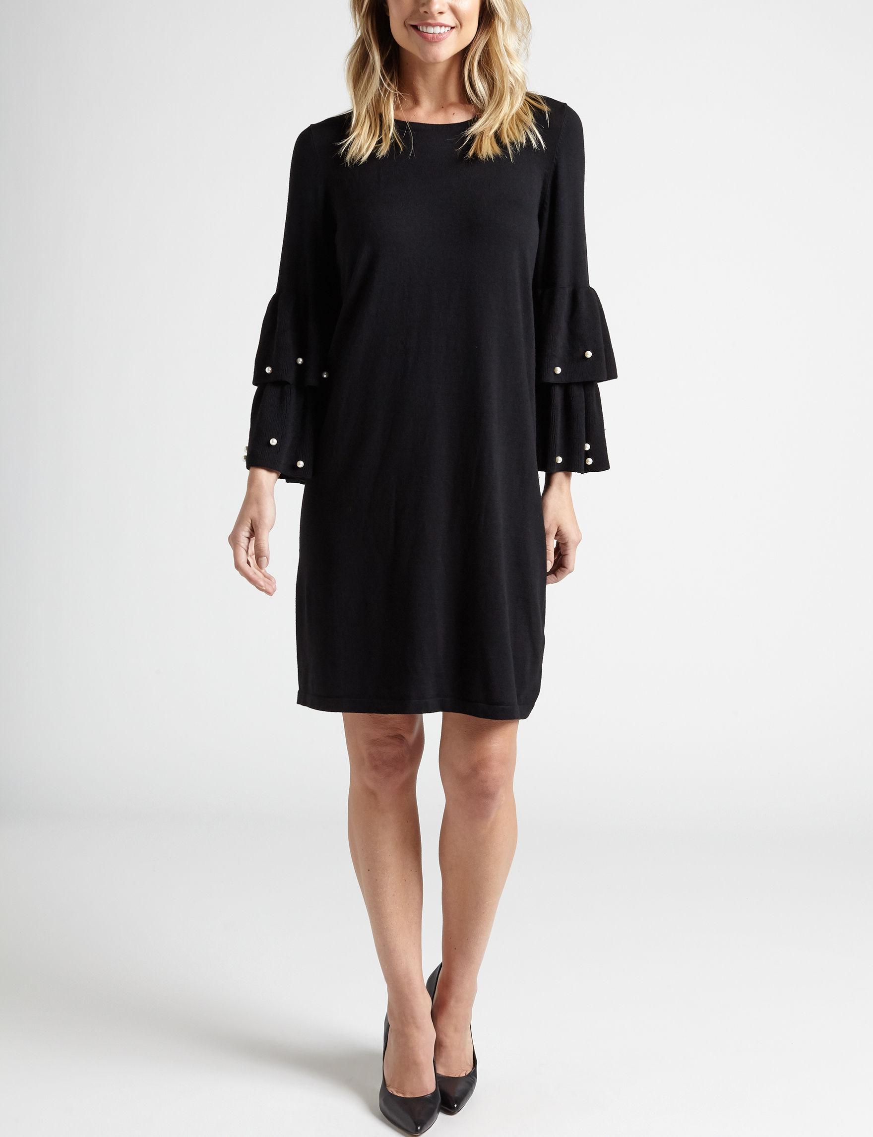 Harlow & Rose Black Everyday & Casual Sweater Dresses