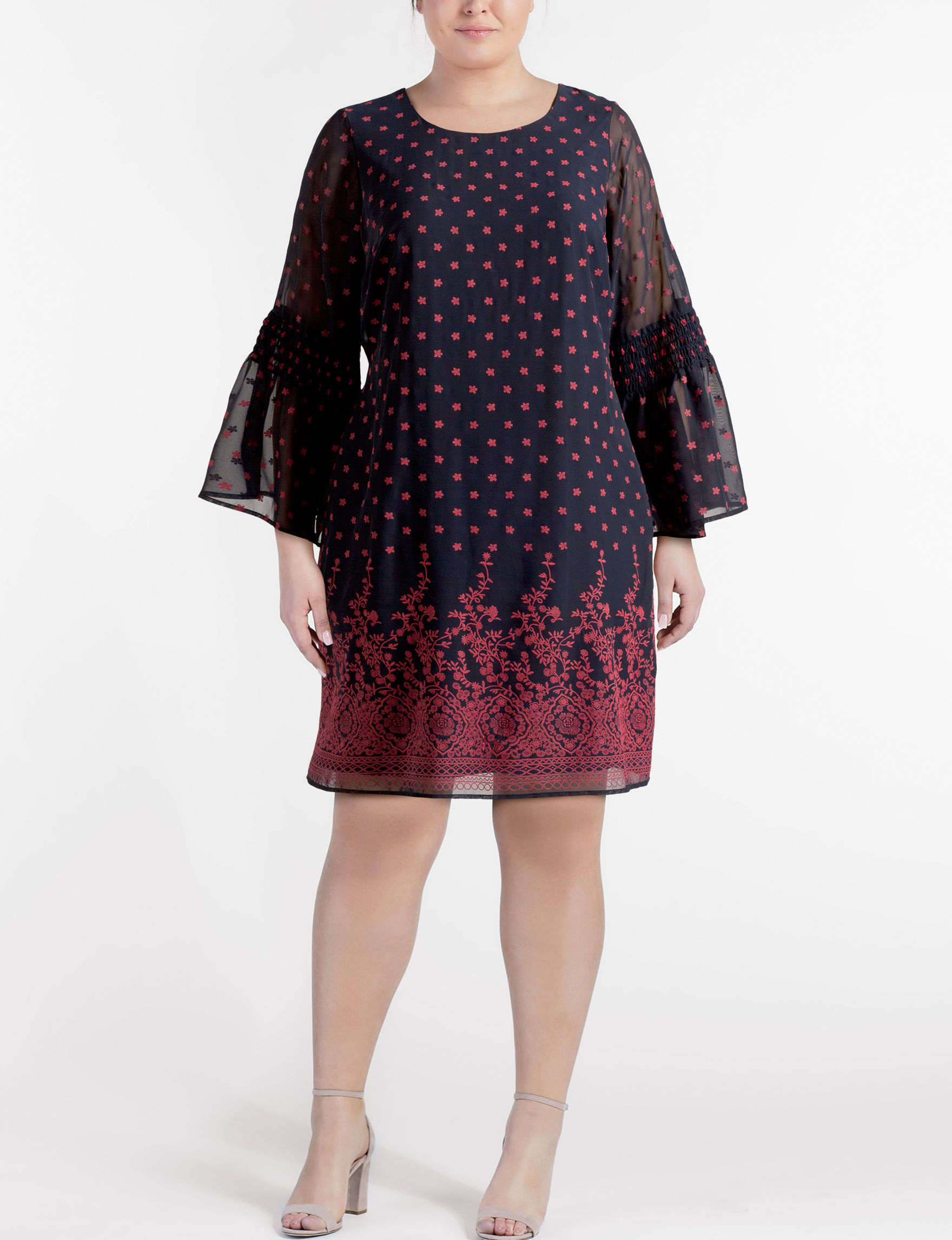 Robbie Bee Navy Everyday & Casual Sweater Dresses