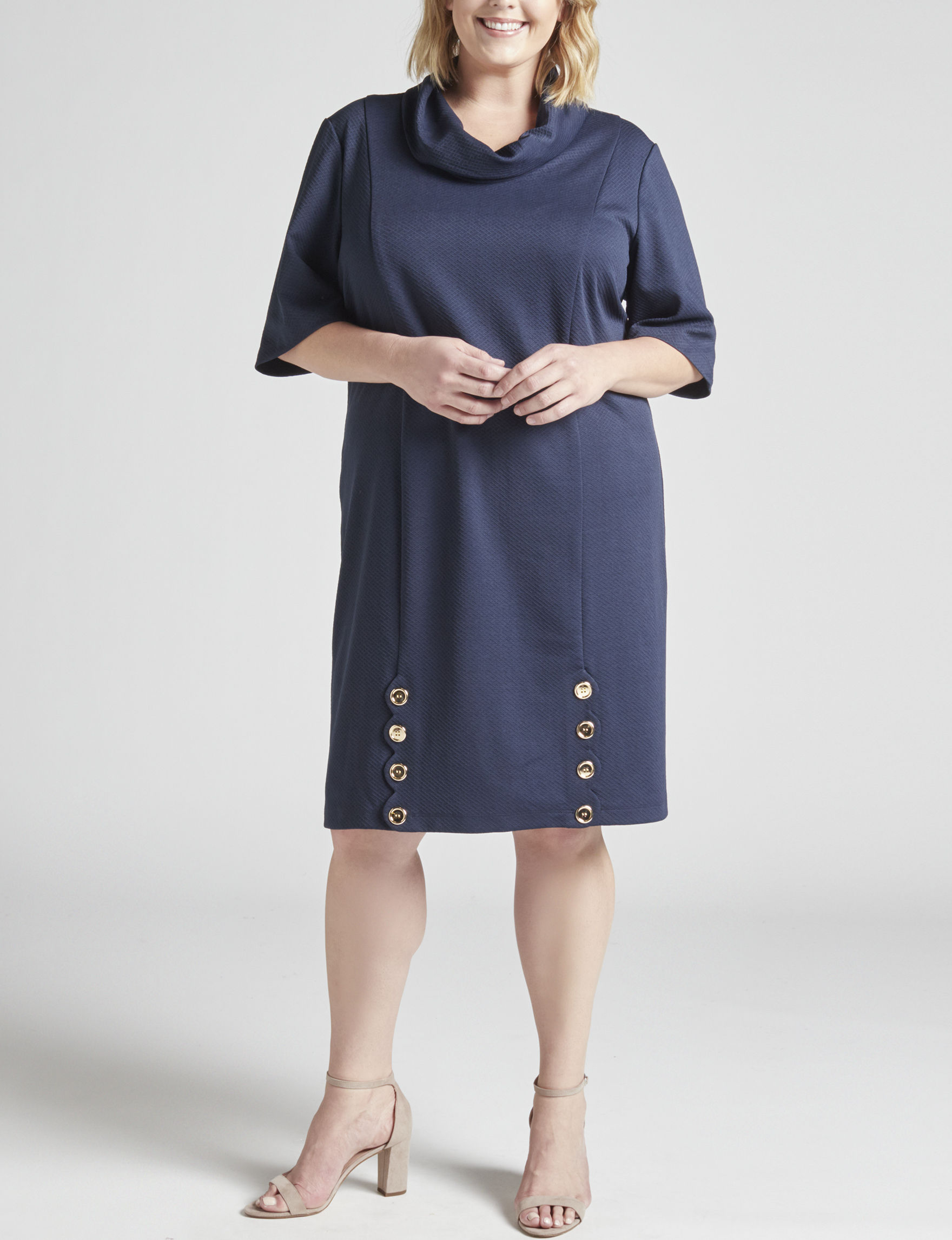 Perceptions Navy Everyday & Casual Sheath Dresses