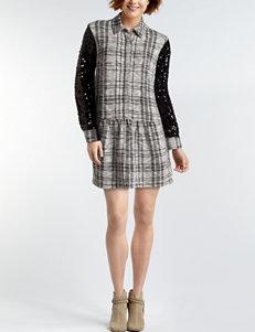 Nic Nation Black / Ivory Everyday & Casual Shirt Dresses