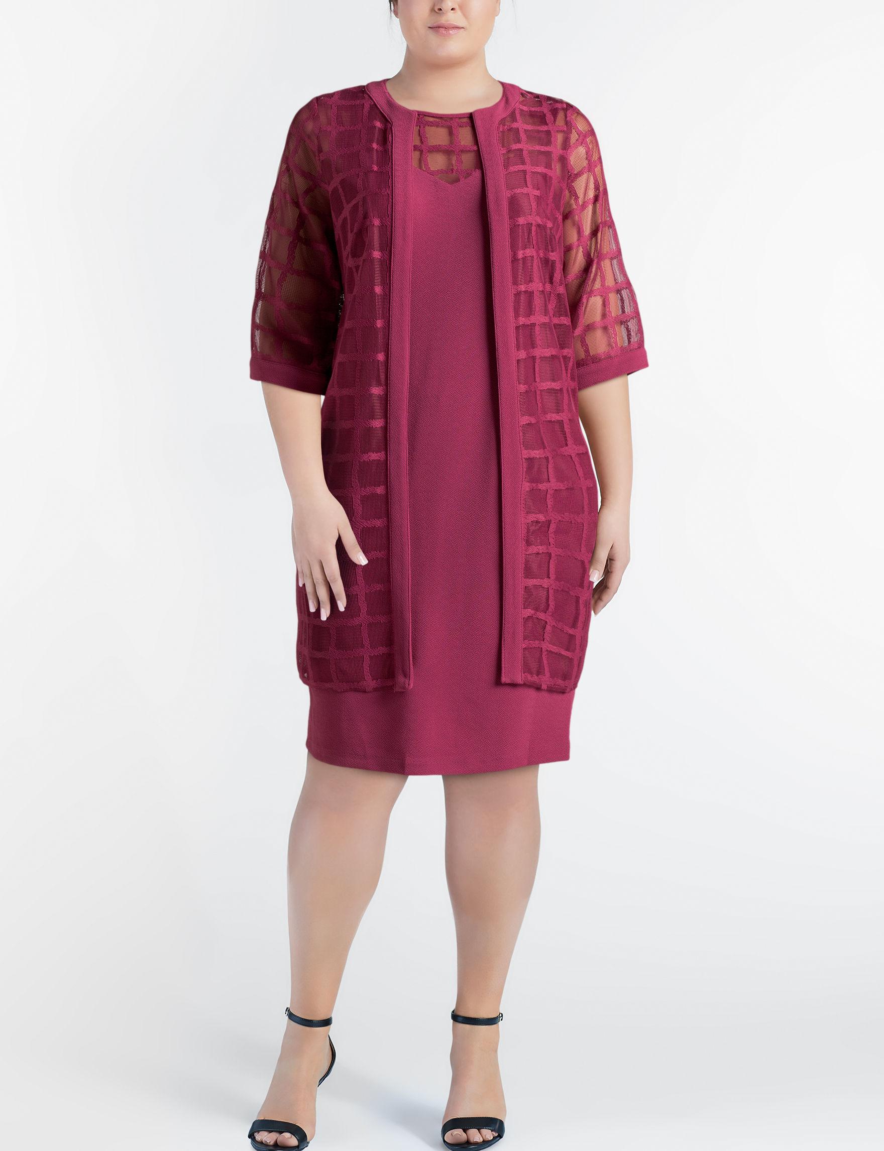 Maya Brooke Red Everyday & Casual Jacket Dresses