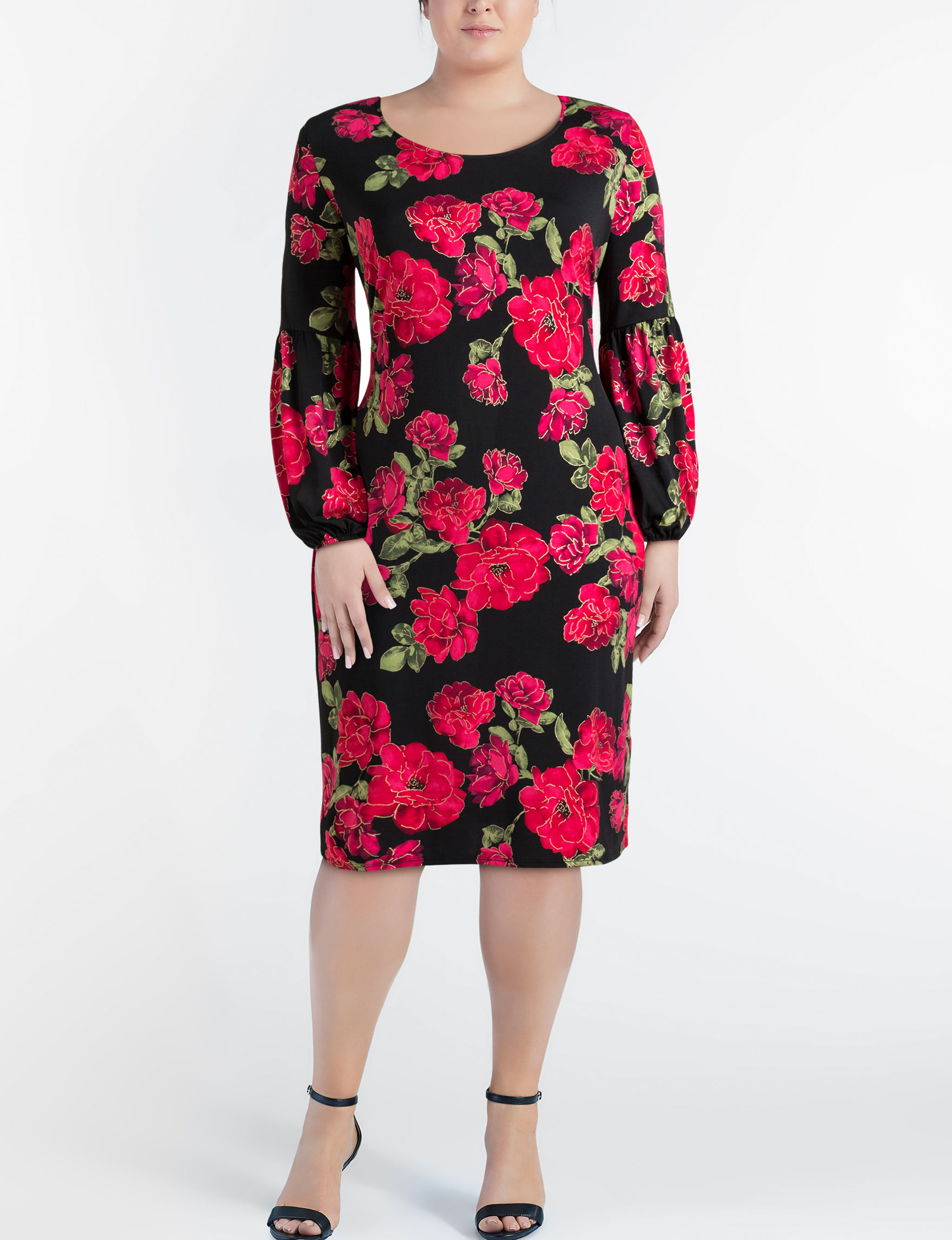Glamour Black / Red Everyday & Casual Shift Dresses