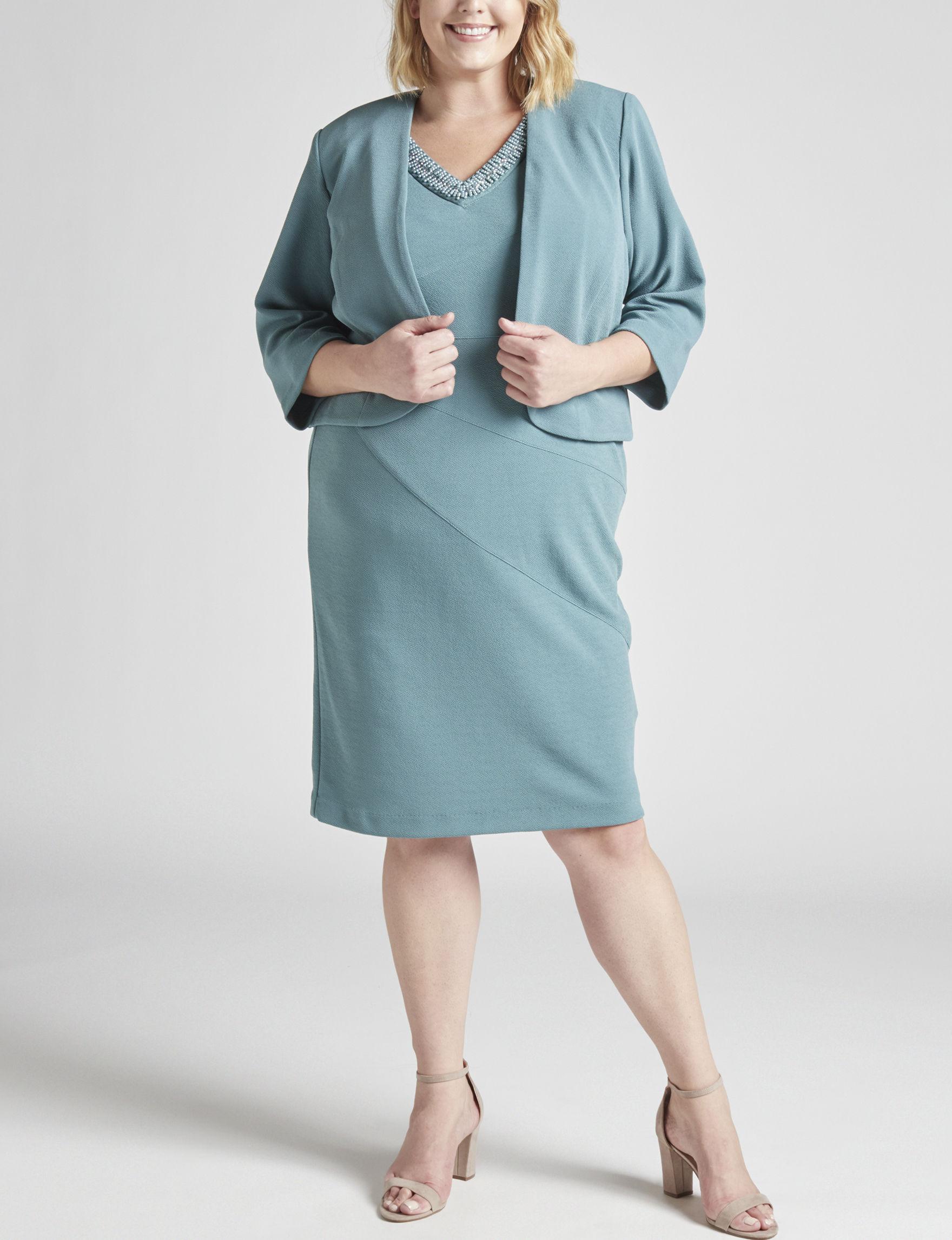 Dana Kay Green Evening & Formal Jacket Dresses