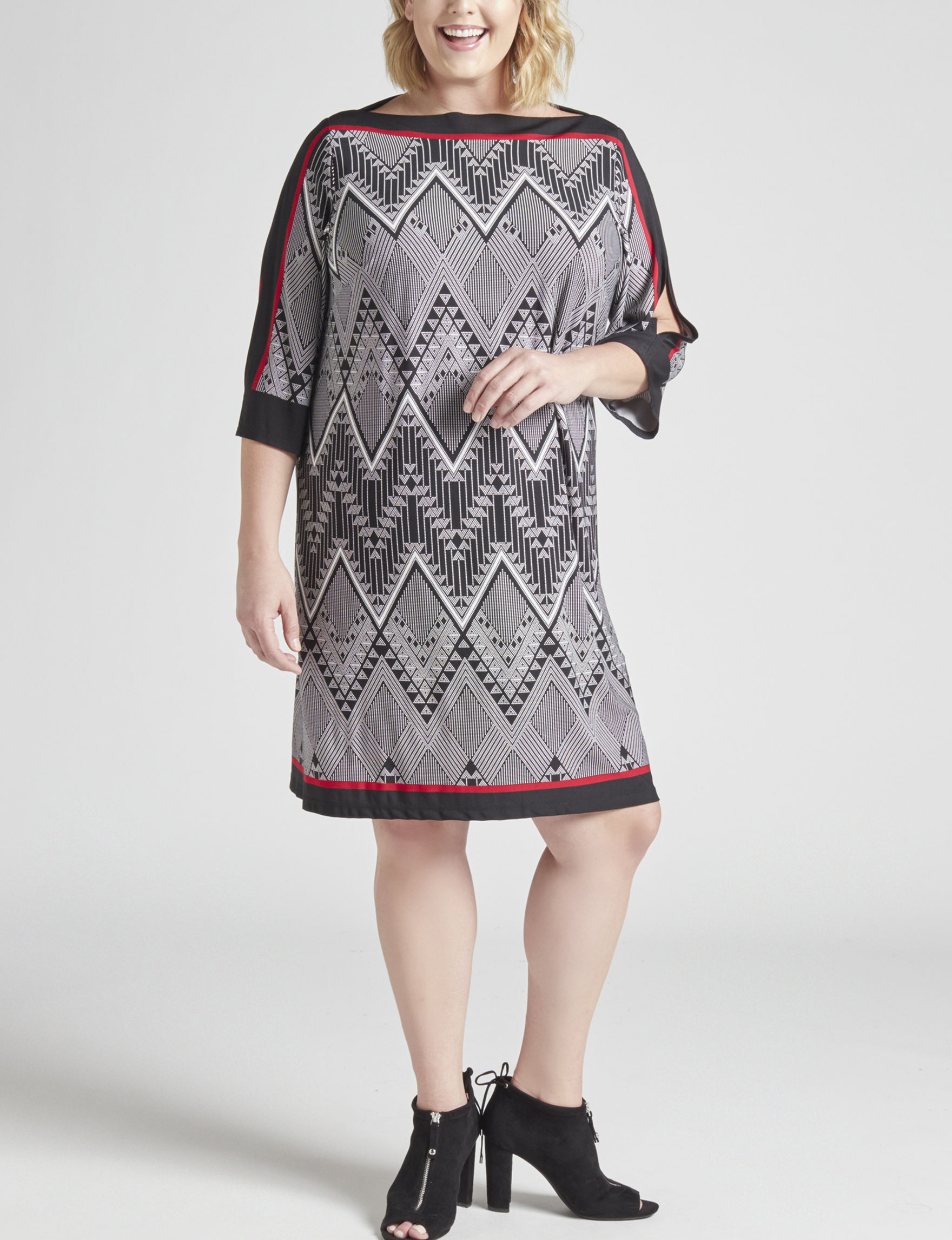 Sandra Darren Black Everyday & Casual Shift Dresses